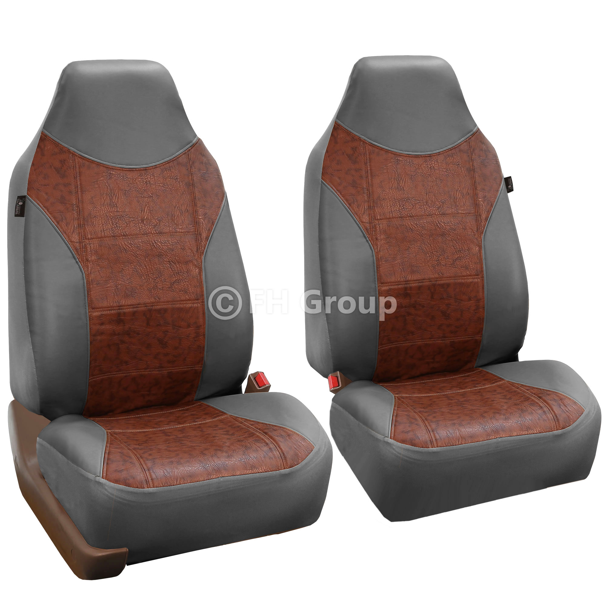 Faux Leather Car Seat Covers Front Seat Airbag Ready For