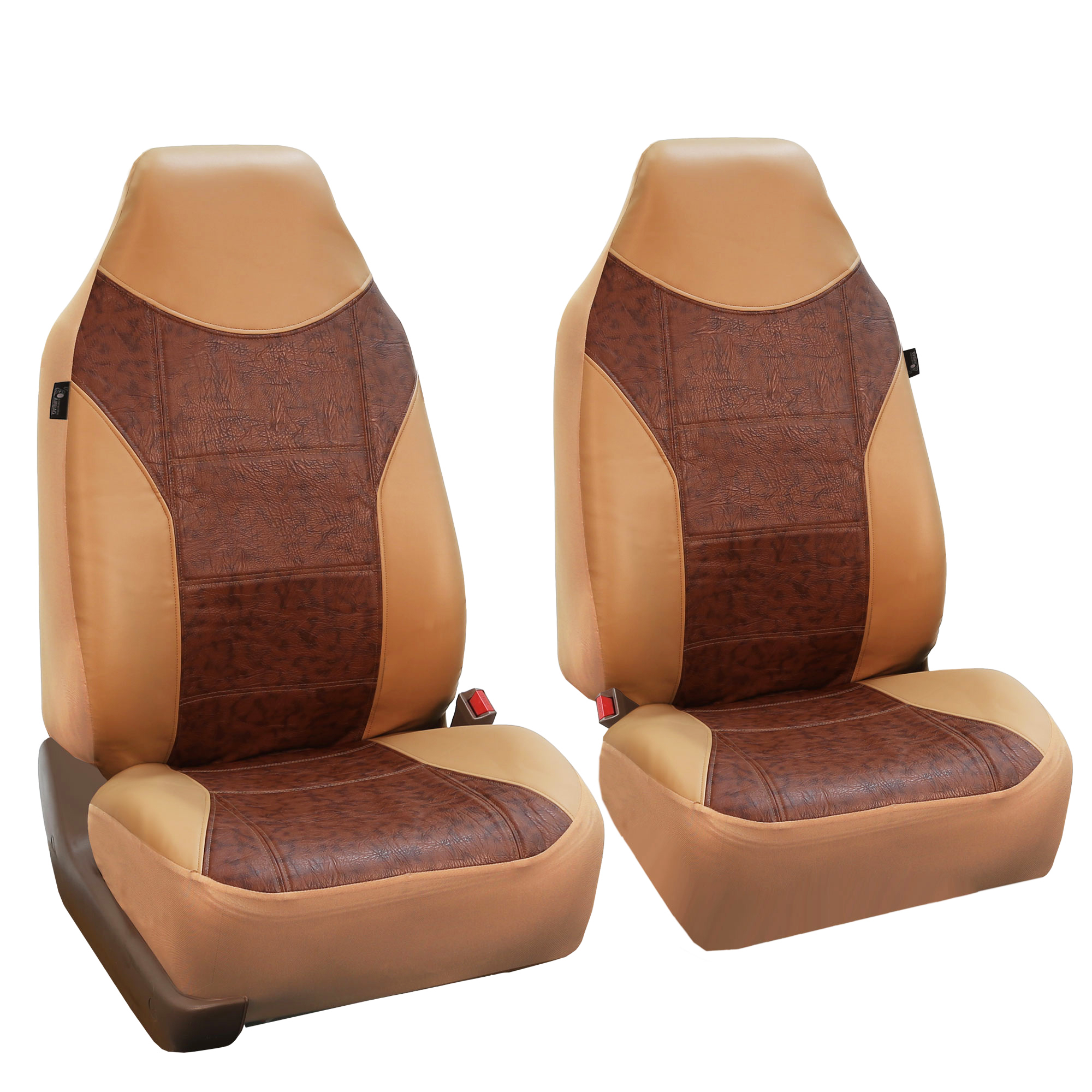 Faux leather car seat covers tan brown top quality for car - Car seat covers for tan interior ...
