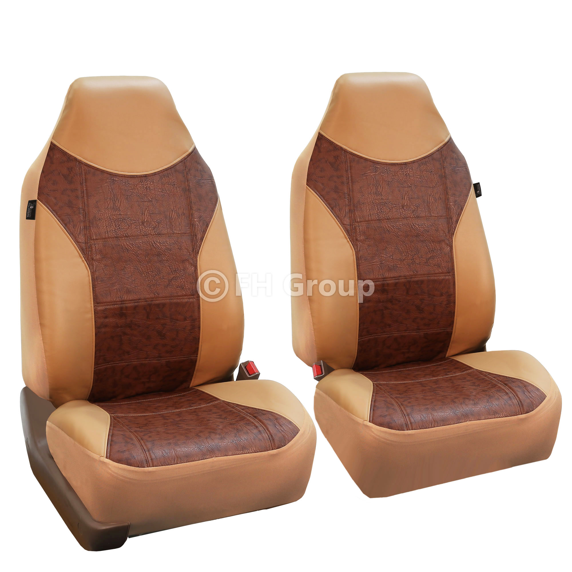 Faux Leather Highback Front Bukcet Seat Covers For Auto