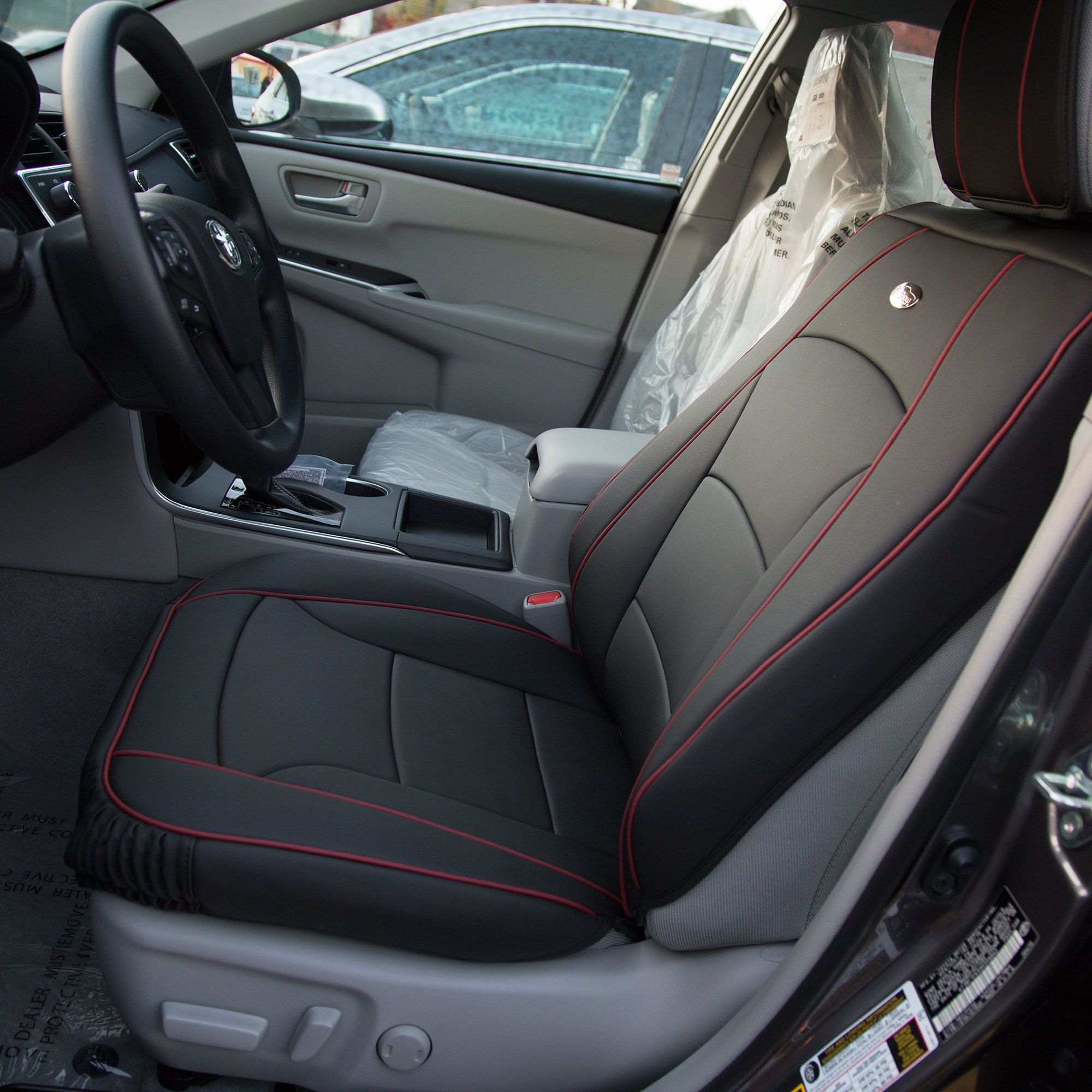 Luxury-Leather-Seat-Cushion-Covers-Front-Bucket-Pair-11-Color-Options thumbnail 17