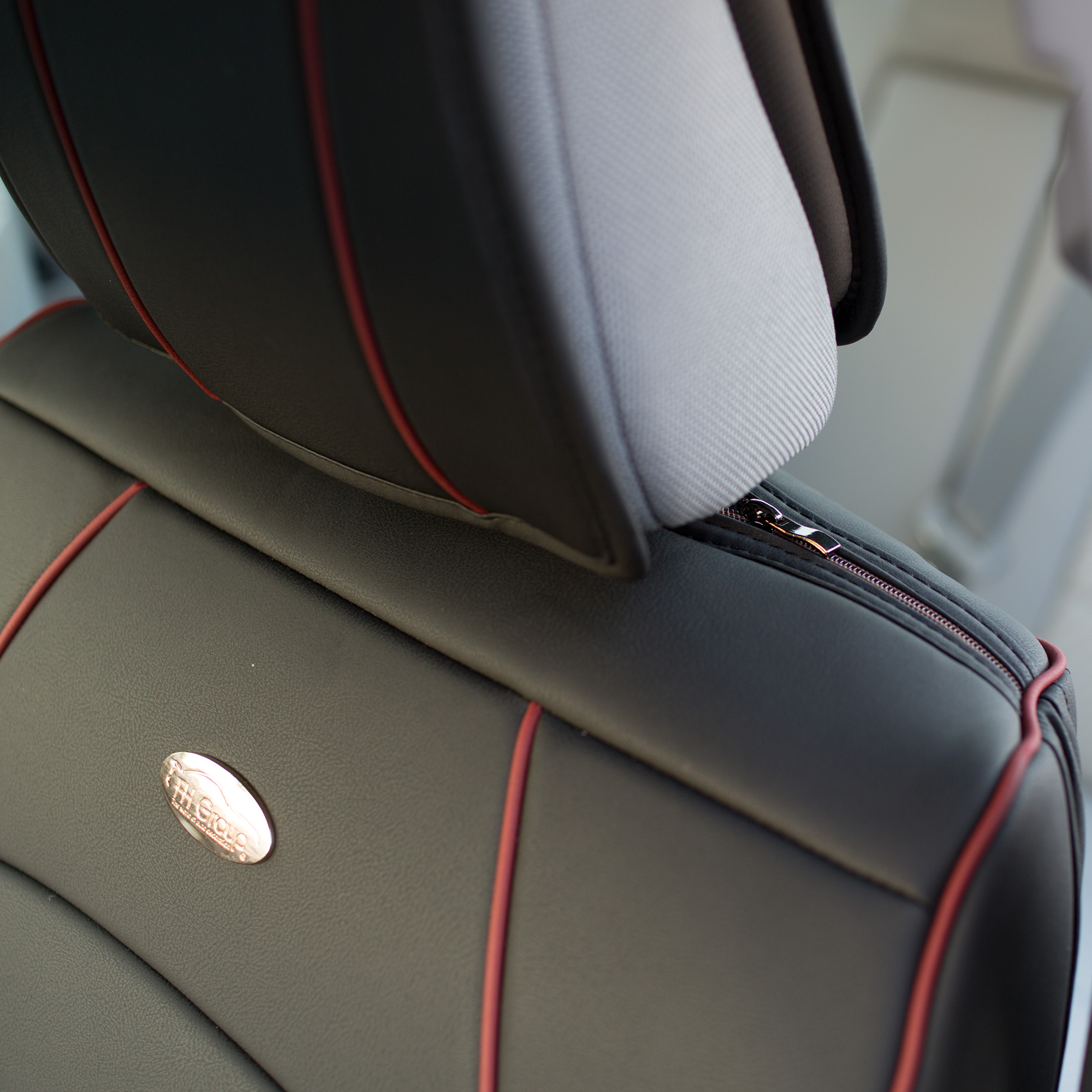 Luxury-Leather-Seat-Cushion-Covers-Front-Bucket-Pair-11-Color-Options thumbnail 14