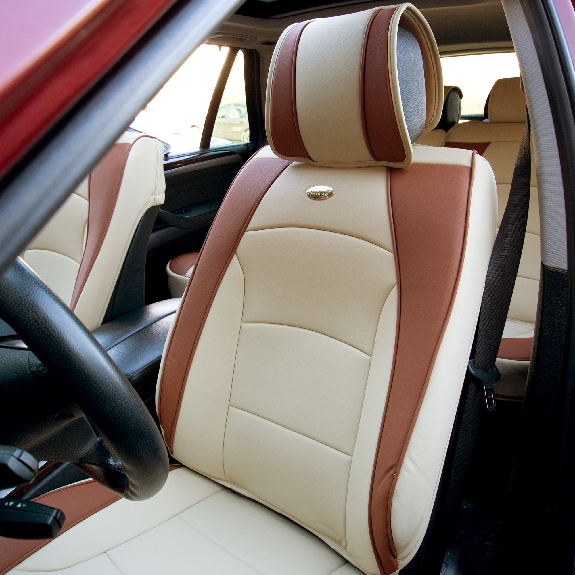 Luxury-Leather-Seat-Cushion-Covers-Front-Bucket-Pair-11-Color-Options thumbnail 4
