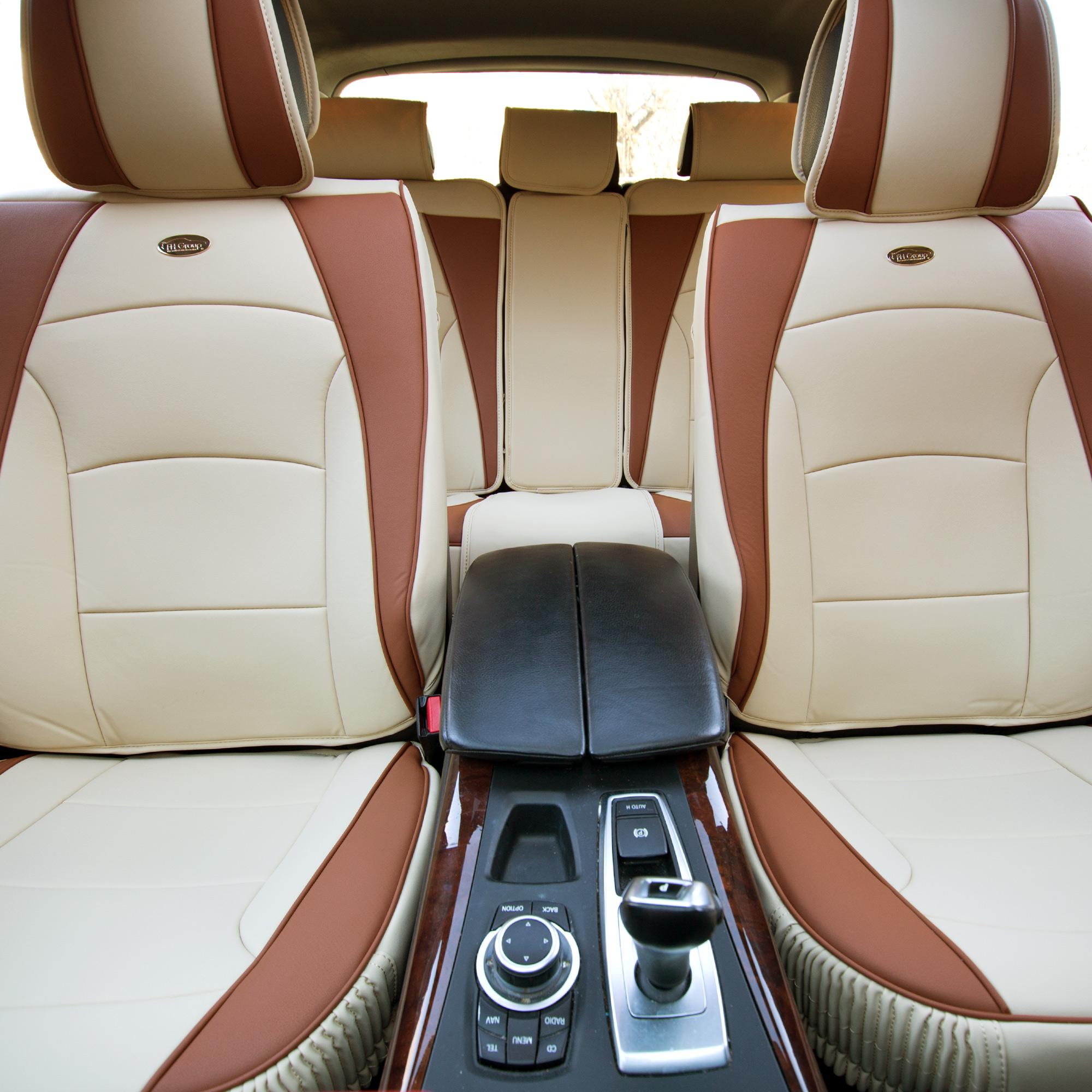 5 Seat Car SUV PU Leather Seat Cushion Covers Full Set 5