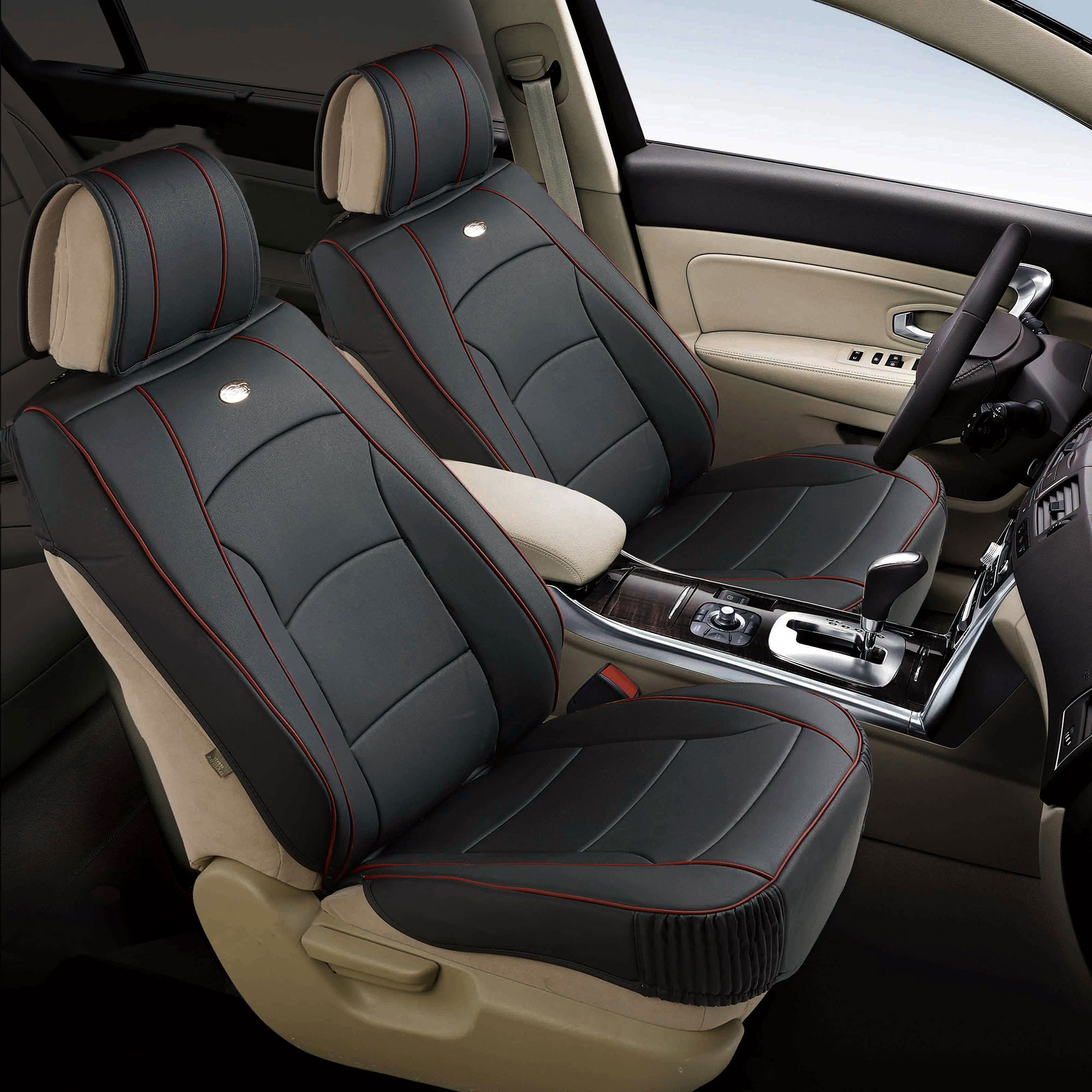 Car Suv Van Pu Leather Seat Cushion Covers Front Buckets 5