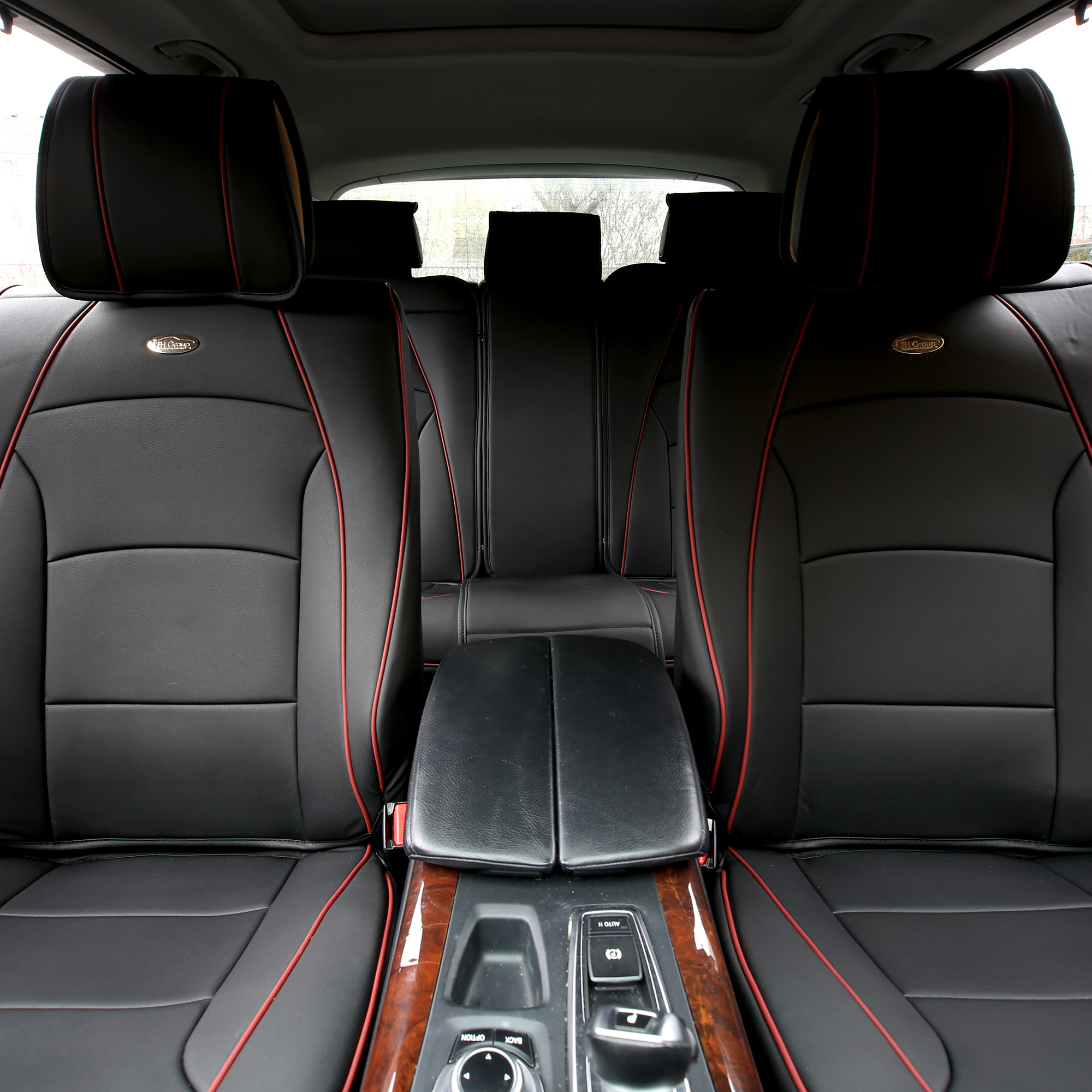 car suv truck pu leather seat cushion covers black 220511115004 ebay. Black Bedroom Furniture Sets. Home Design Ideas