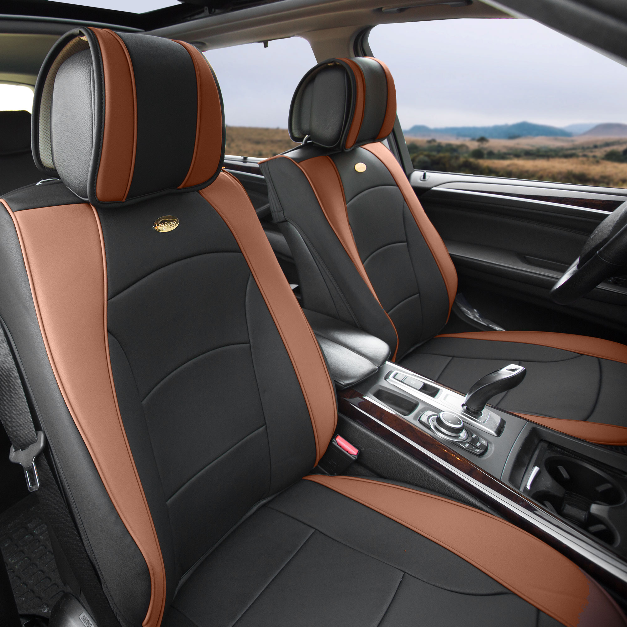Luxury-Leather-Seat-Cushion-Covers-Front-Bucket-Pair-11-Color-Options thumbnail 24