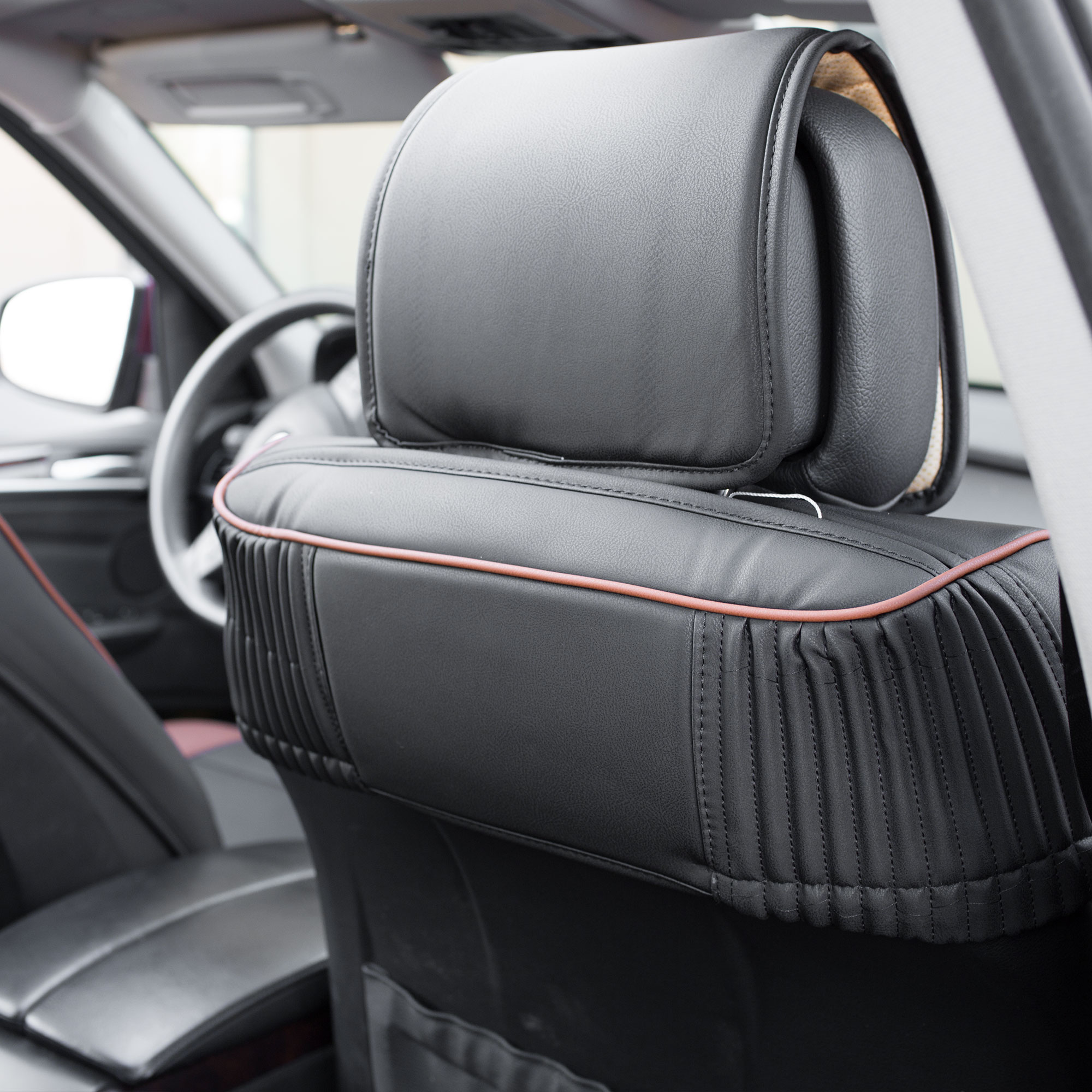 Luxury-Leather-Seat-Cushion-Covers-Front-Bucket-Pair-11-Color-Options thumbnail 26
