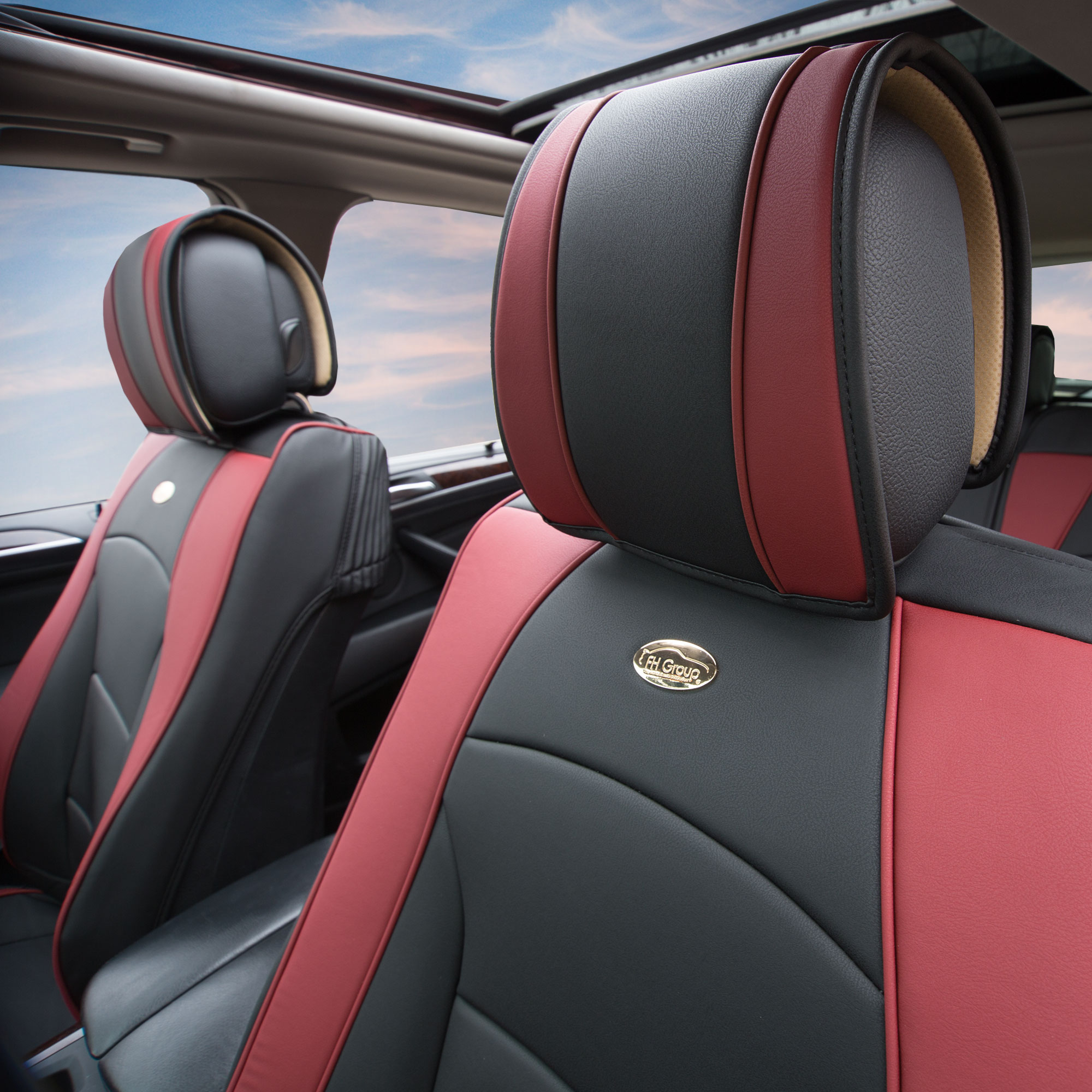 Luxury-Leather-Seat-Cushion-Covers-Front-Bucket-Pair-11-Color-Options thumbnail 28