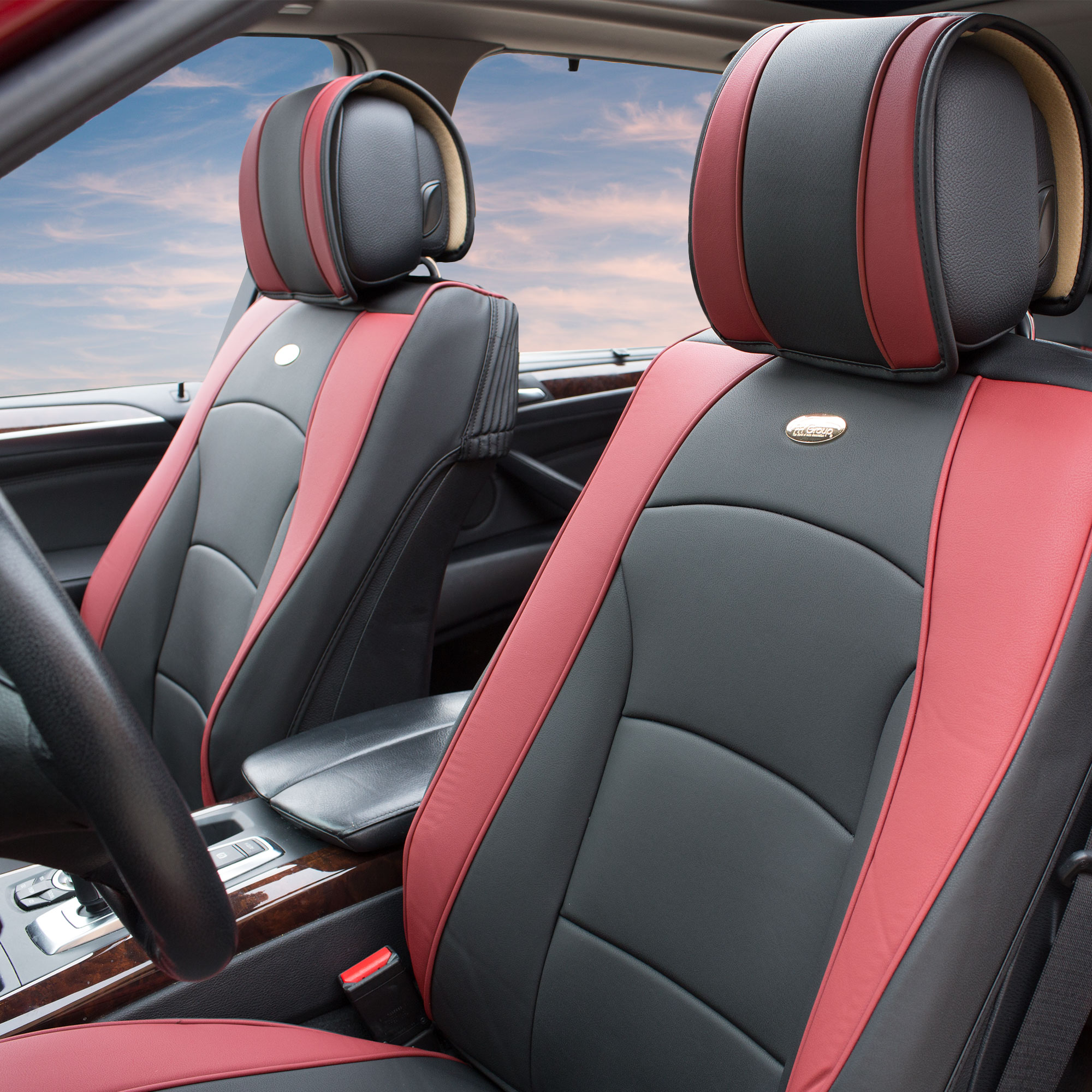 Luxury-Leather-Seat-Cushion-Covers-Front-Bucket-Pair-11-Color-Options thumbnail 29