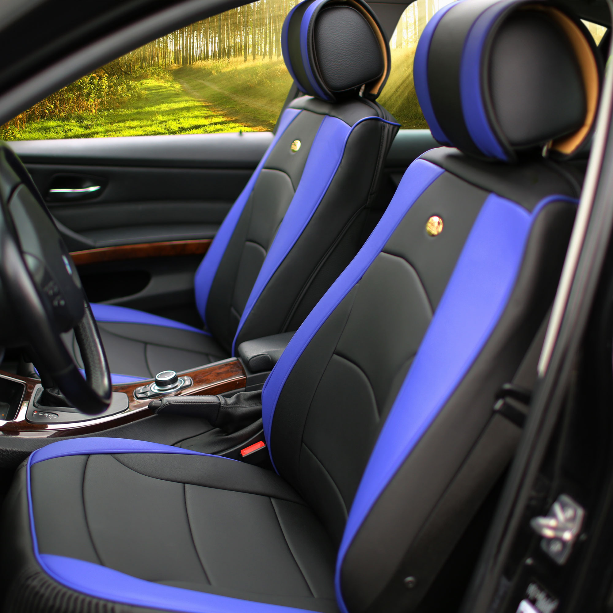 Luxury-Leather-Seat-Cushion-Covers-Front-Bucket-Pair-11-Color-Options thumbnail 19