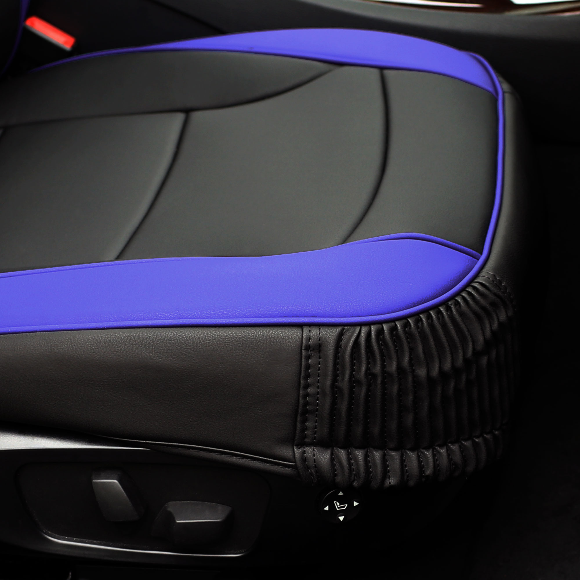 Luxury-Leather-Seat-Cushion-Covers-Front-Bucket-Pair-11-Color-Options thumbnail 21