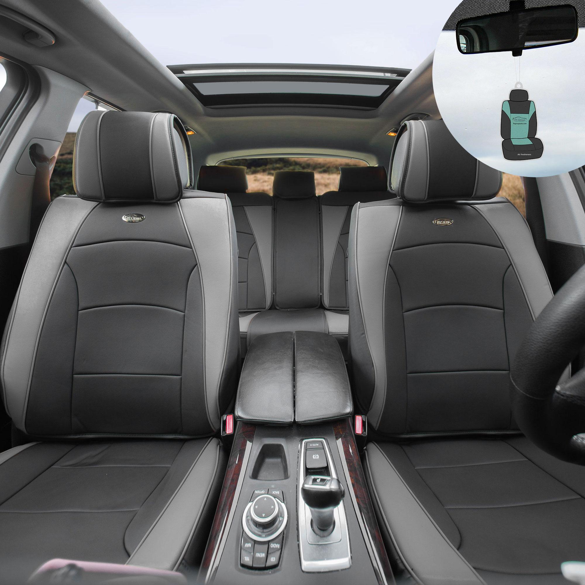 Full Set Chevrolet Orlando Luxury GREY//BLACK Leather Look Car Seat Covers