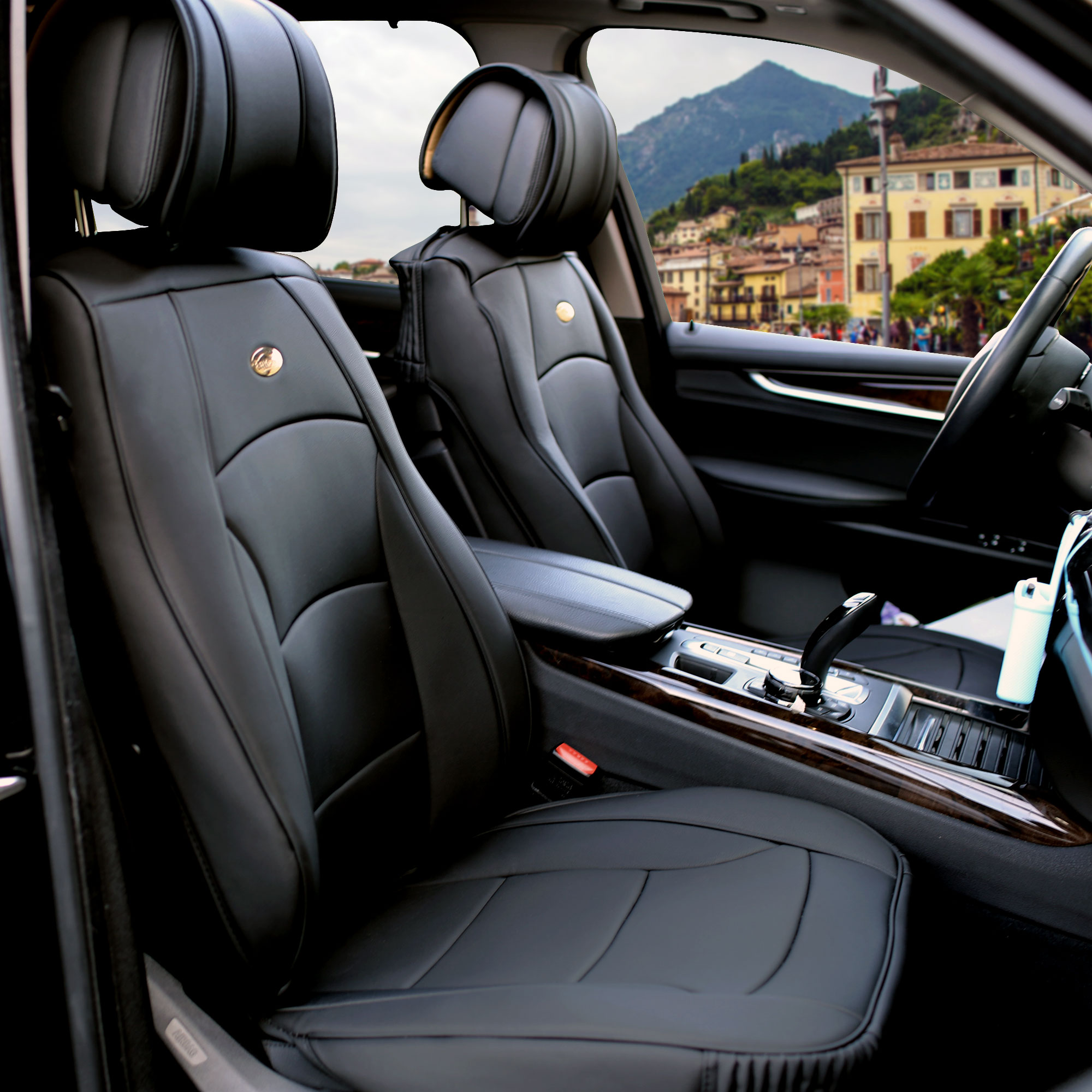 Luxury-Leather-Seat-Cushion-Covers-Front-Bucket-Pair-11-Color-Options thumbnail 7