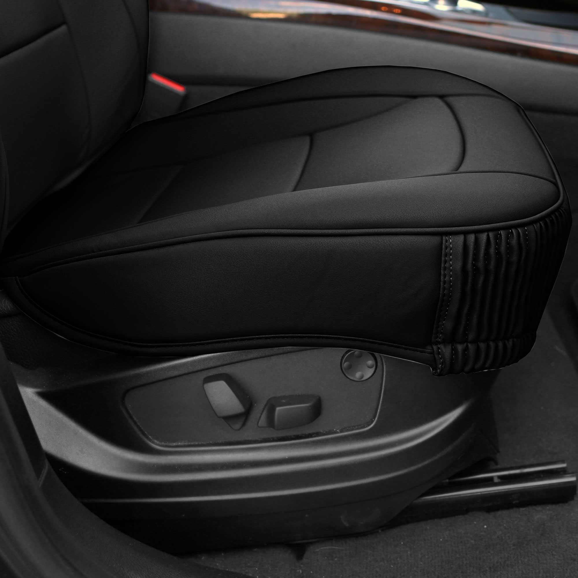 Luxury-Leather-Seat-Cushion-Covers-Front-Bucket-Pair-11-Color-Options thumbnail 9
