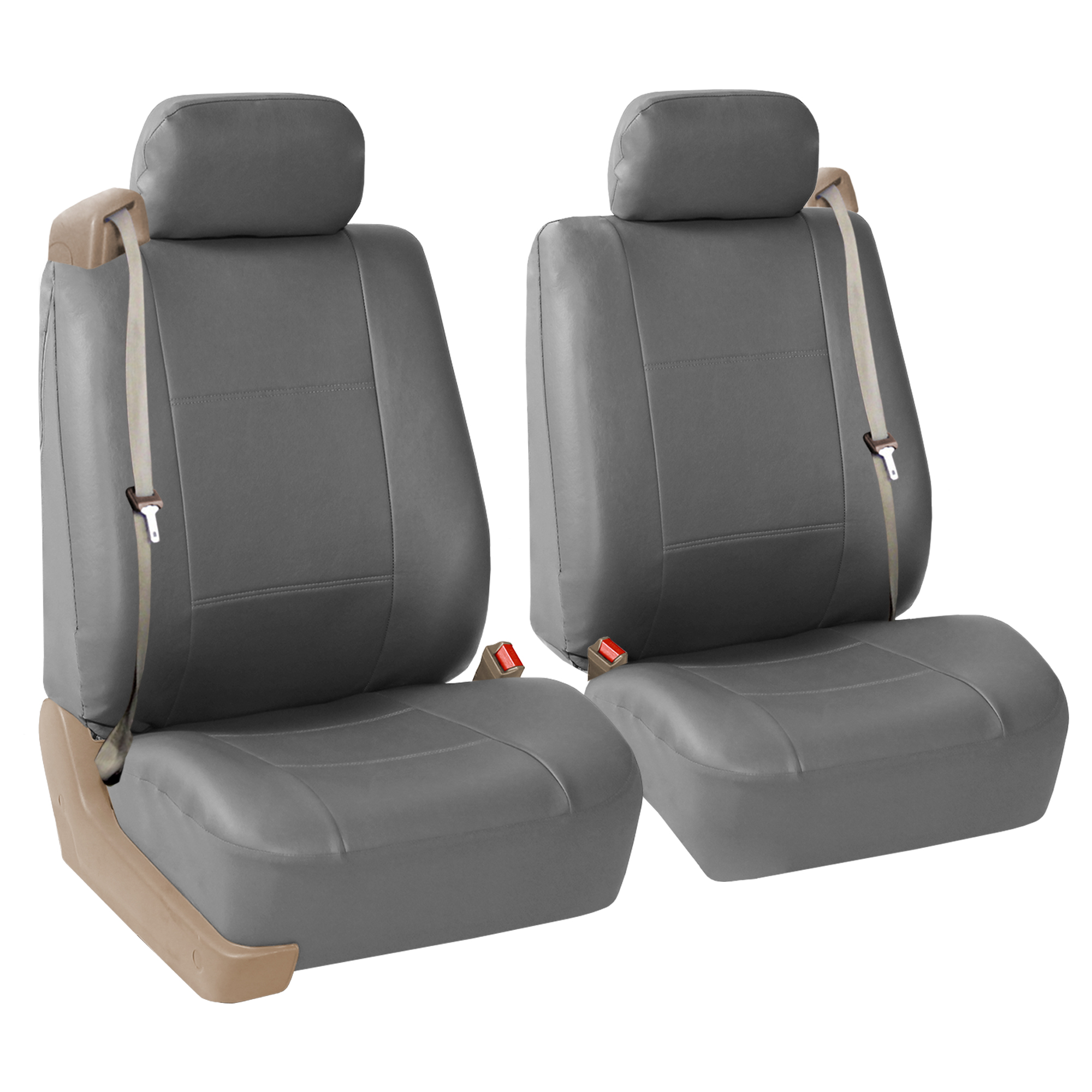 Gray Integrated Seatbelt Suv Truck Seat Covers With Black