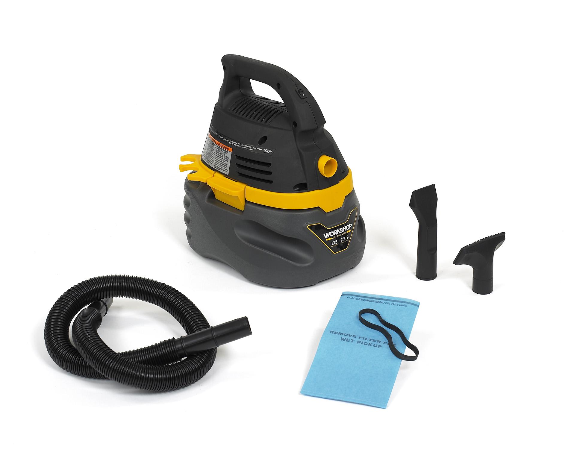 WORKSHOP Wet Dry Vacs WS0250VA Portable 25 Gallon 175 Peak HP Vacuum Cleaner