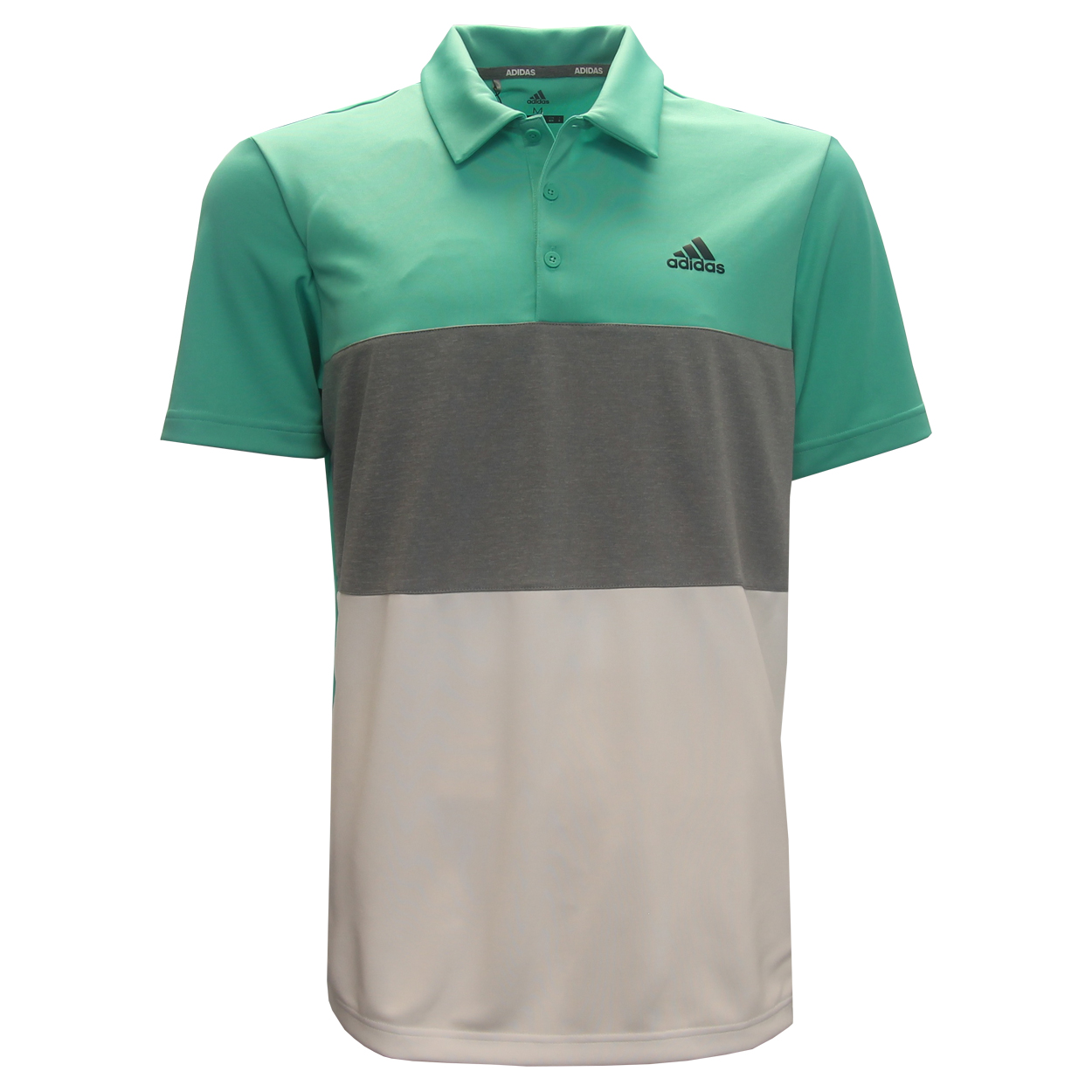 Adidas Advantage Color Block Polo Golf Shirt