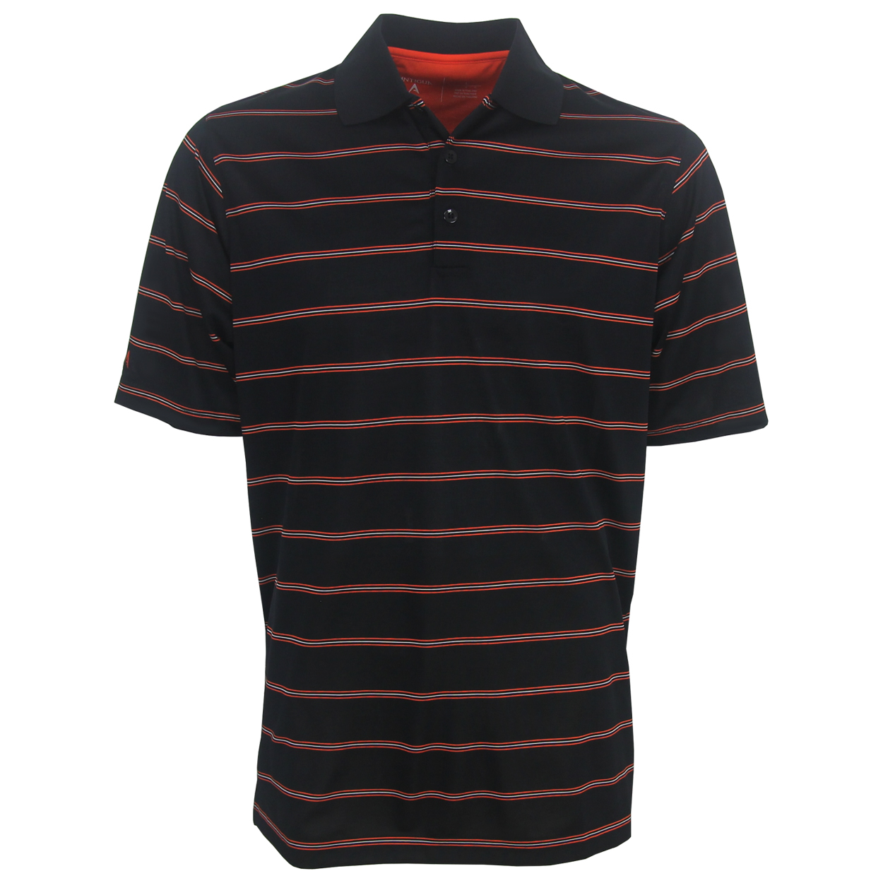 Antigua Deluxe Performance Striped Polo Golf Shirt