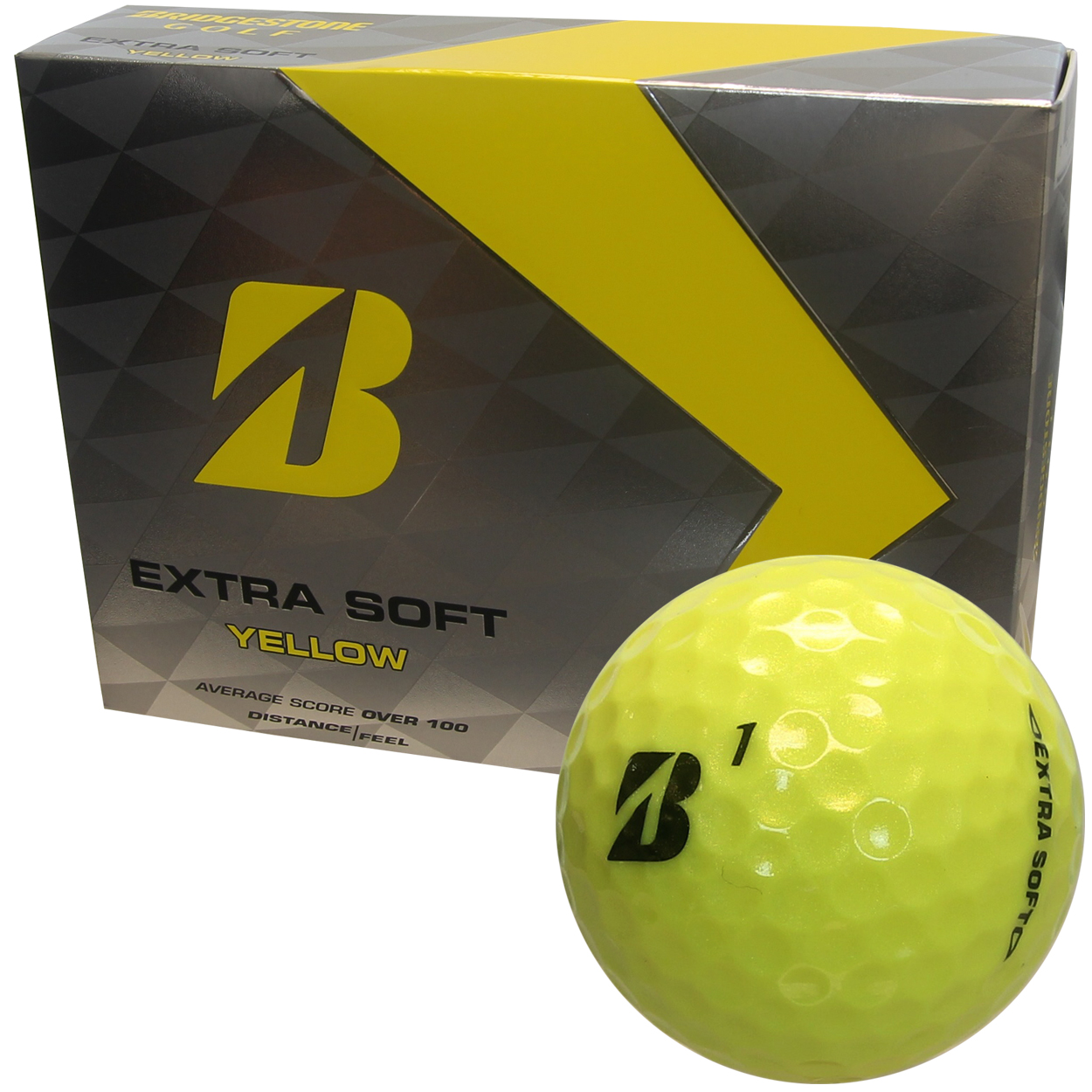 The Bridgestone Extra Soft Golf Ball features: Softer gradational core for longer distance. Soft responsive ionomer cover for extreme control and greenside feel.330 seamless dimple design for optimal ball flight. Designed for the average player. But not your average golf ball! QTY: 12 (1 Dozen)
