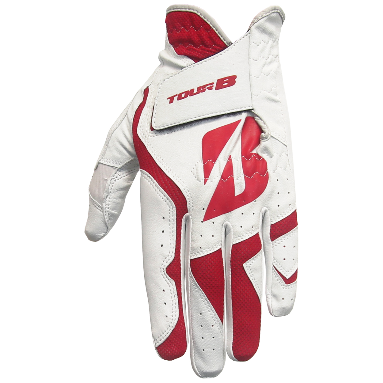 Bridgestone Tour B Fit Golf Gloves, Red/White (3-Pack)