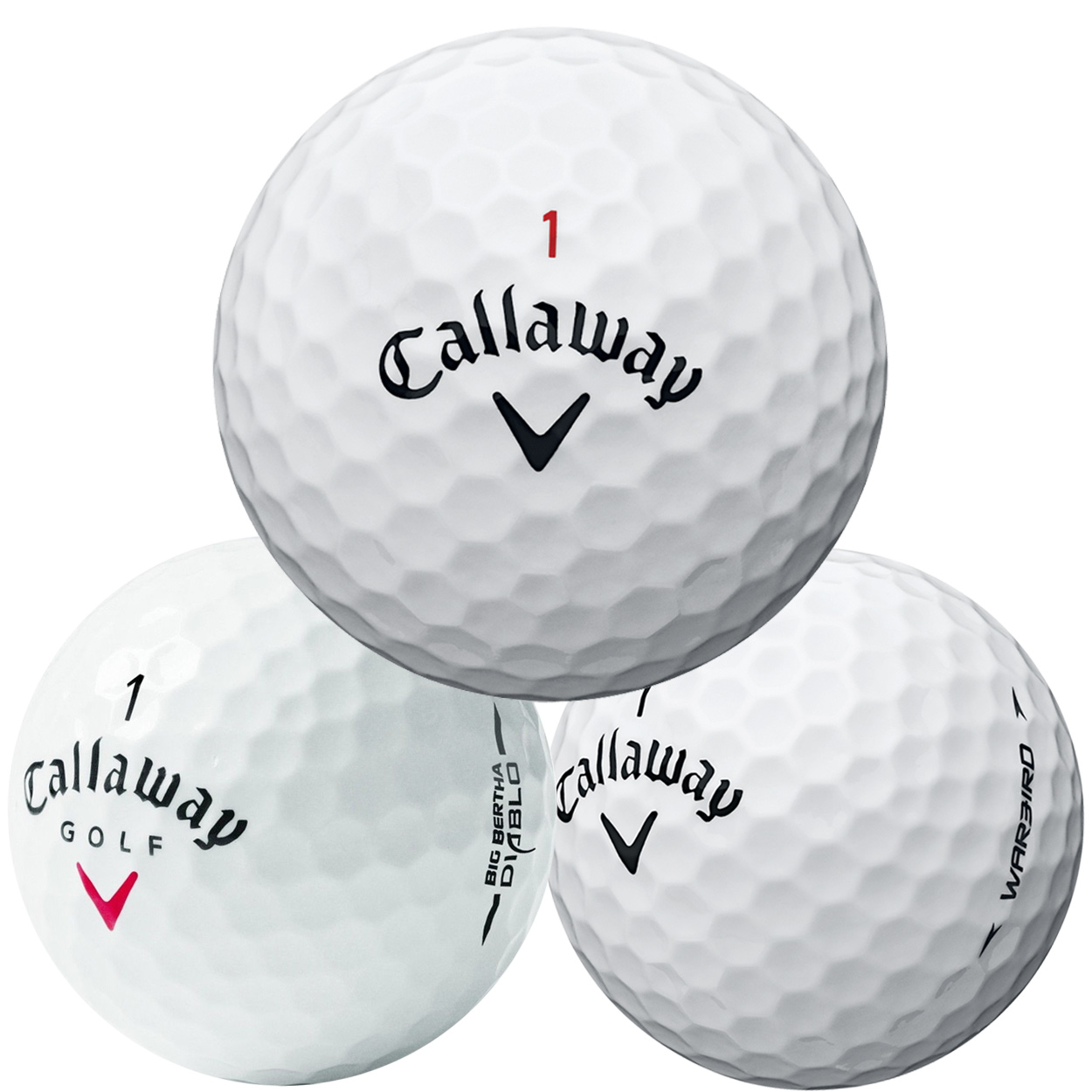 Callaway Mix Recycled Golf Balls, (36) 3-Dozen