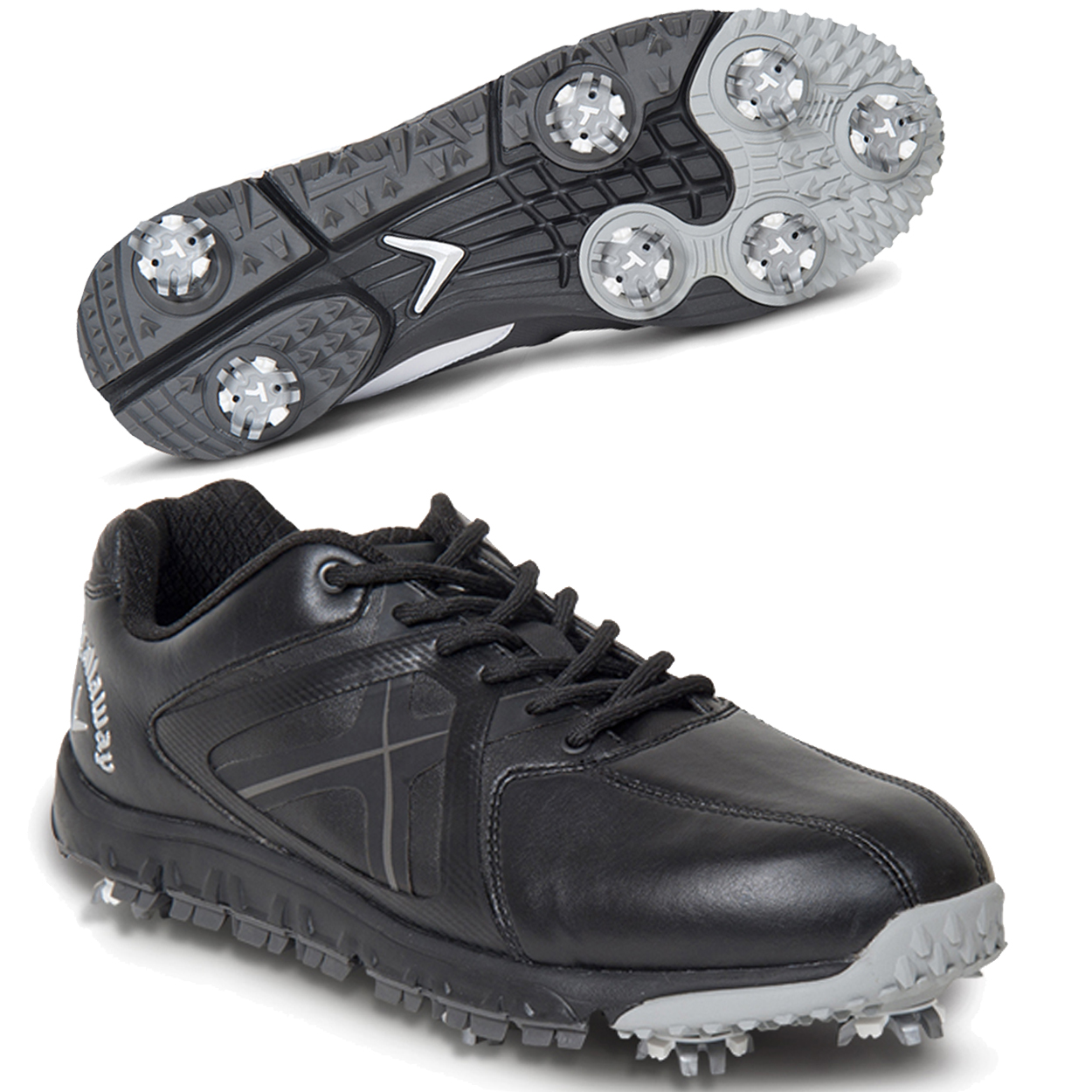 Callaway Mens Balboa Vent Spikeless Golf Shoes Black Grey