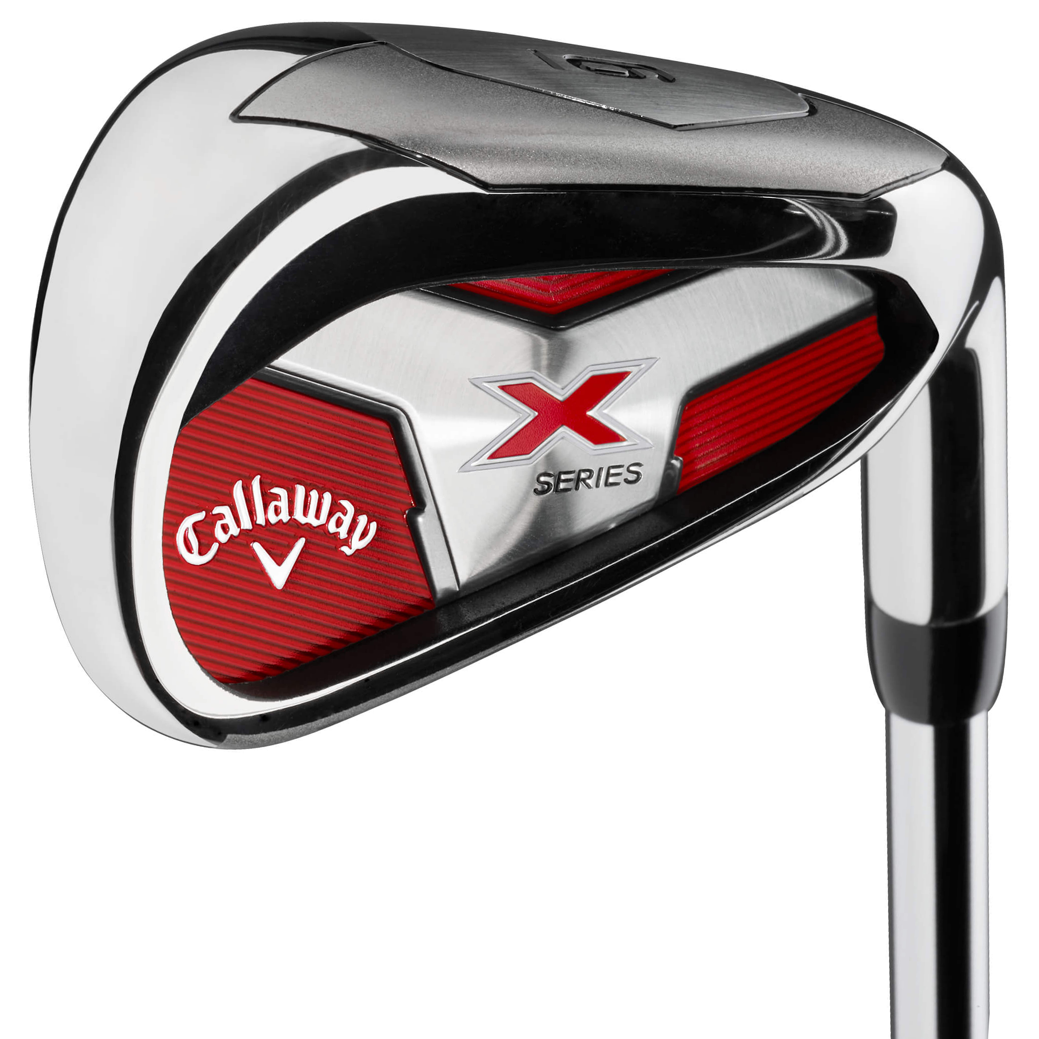"""The Callaway X Series 18 Irons feature: Set configuration: 4-PW, AW. A deep undercut cavity located behind the face of these irons combined with perimeter weighting for unmatched forgiveness across the entire face of the club. Wider sole for improved turf interaction and less digging at impact.X-Series 18 Irons are a game improvement iron designed to improve the scores of players with """"less than perfect"""" swings like yours."""