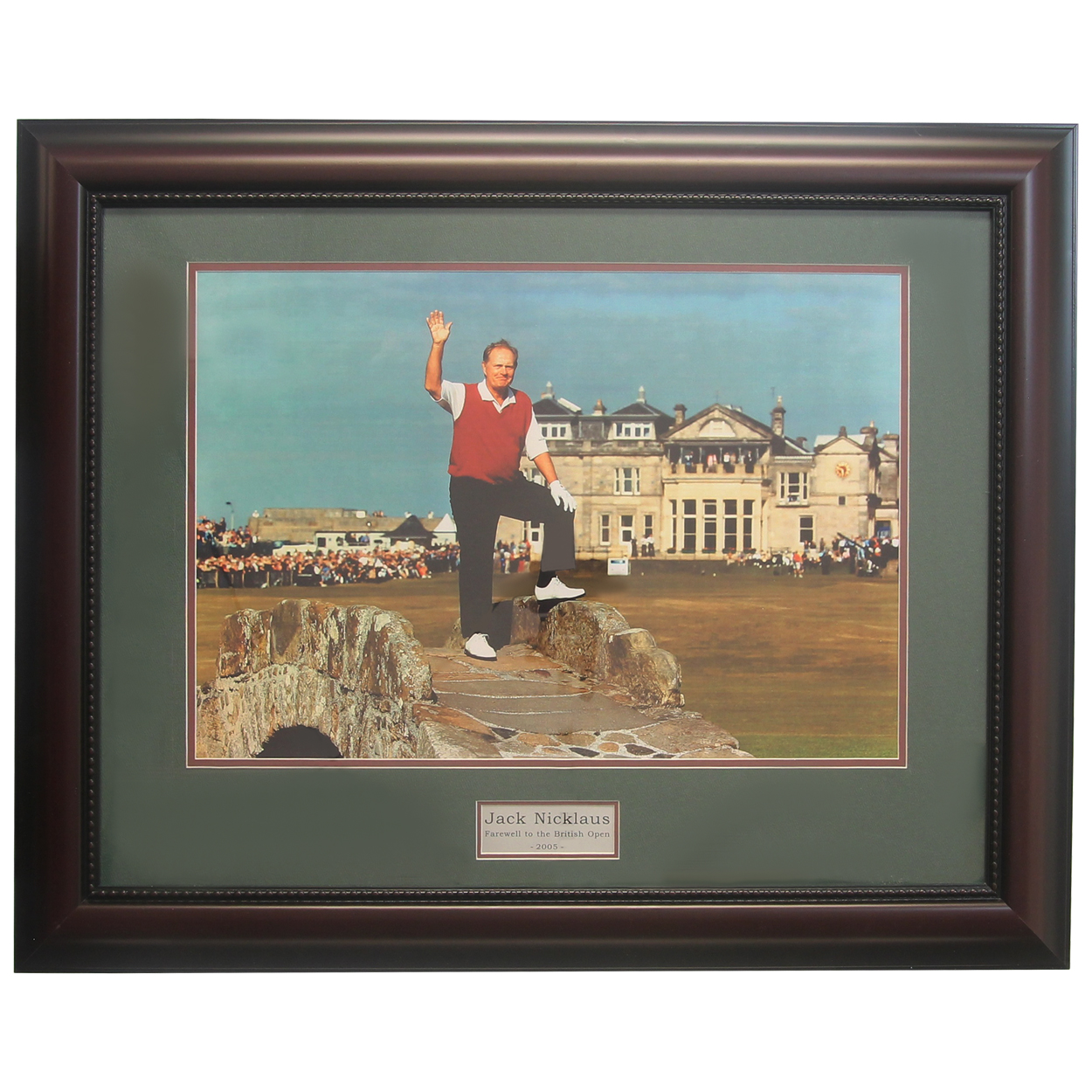 Details About Golf Gifts Gallery Framed Art Jack Nicklaus Farewell To St Andrews