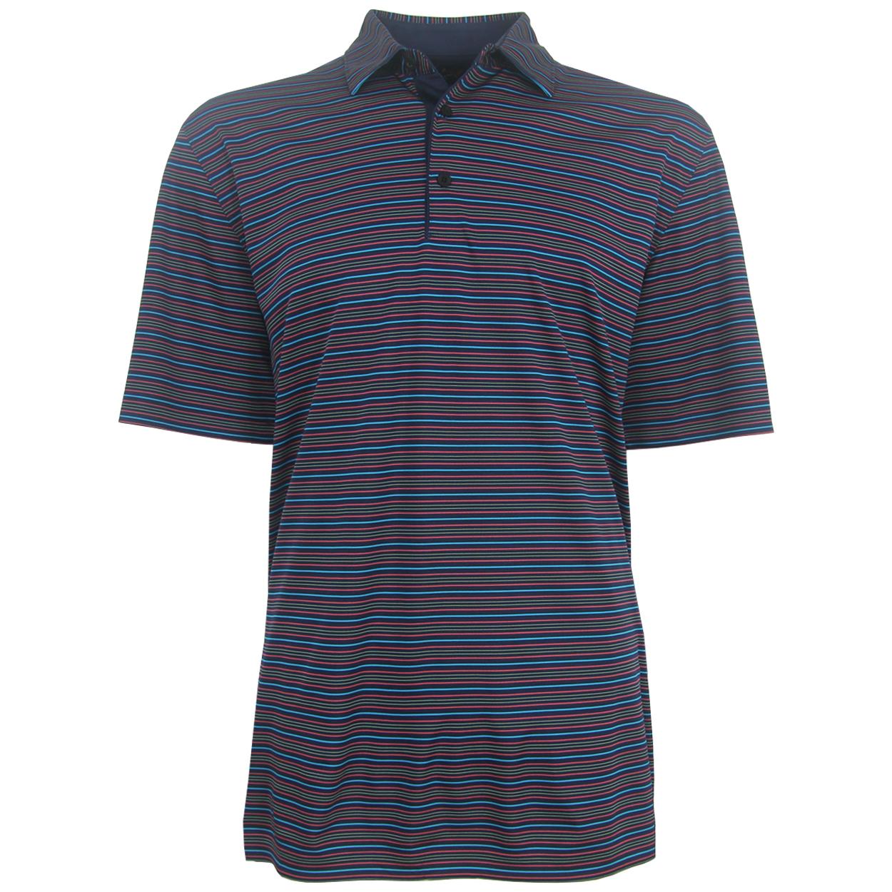 Greg norman men 39 s ml75 multi striped polo golf shirt for Greg norman ml75 shirts