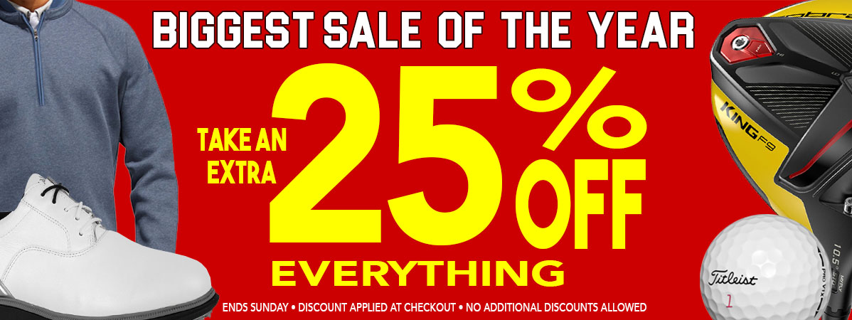 25% Off Everything! Plus, $3 Shipping. Period!