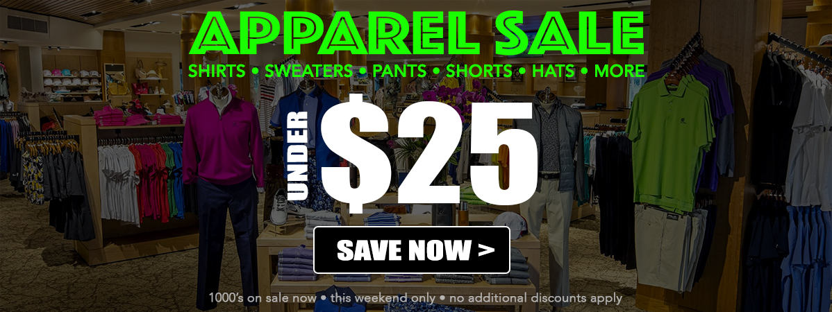 APPAREL SALE • UNDER $25! Plus, $3 Shipping. Period!