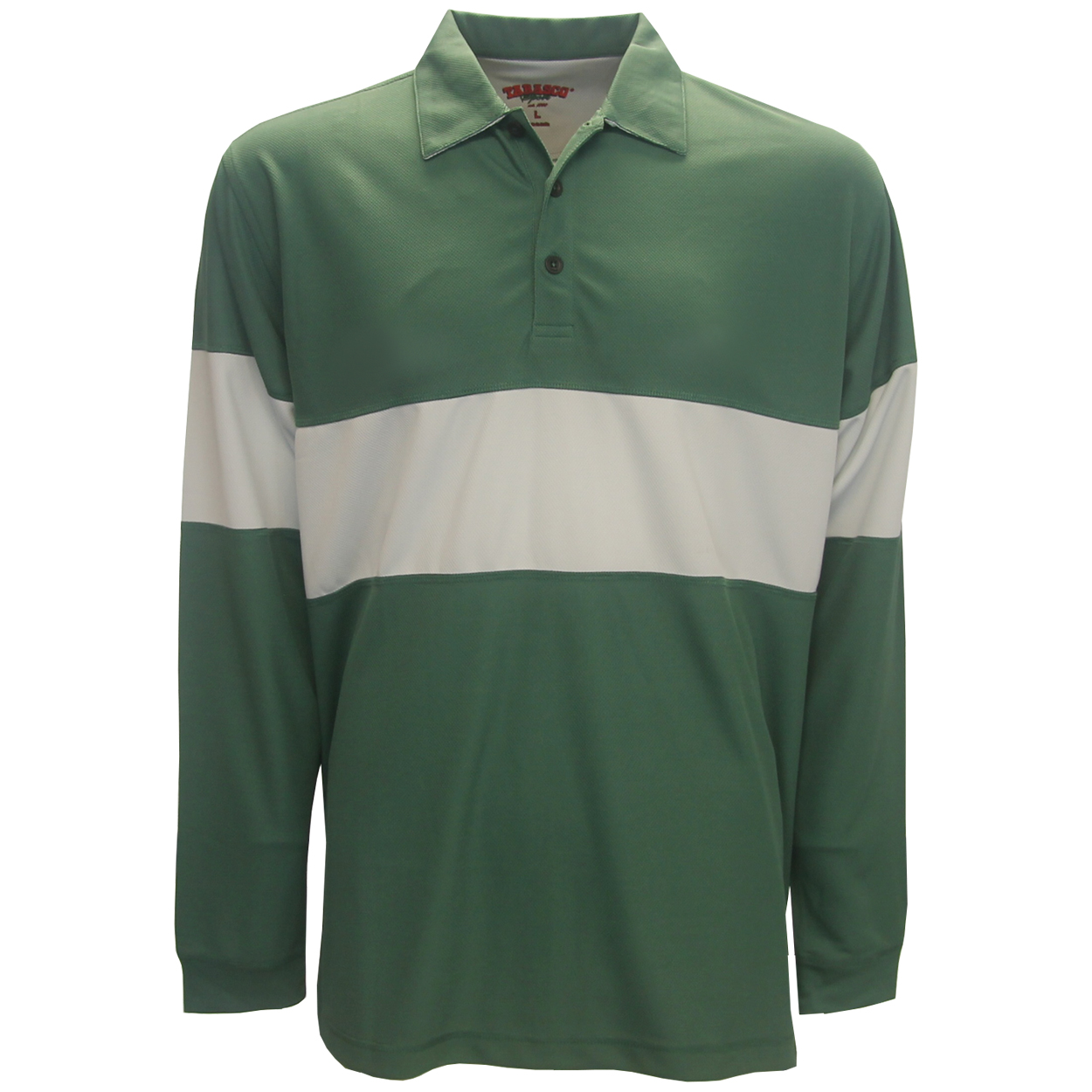 Tabasco golf thermal recycled long sleeve polo shirt for Name brand golf shirts