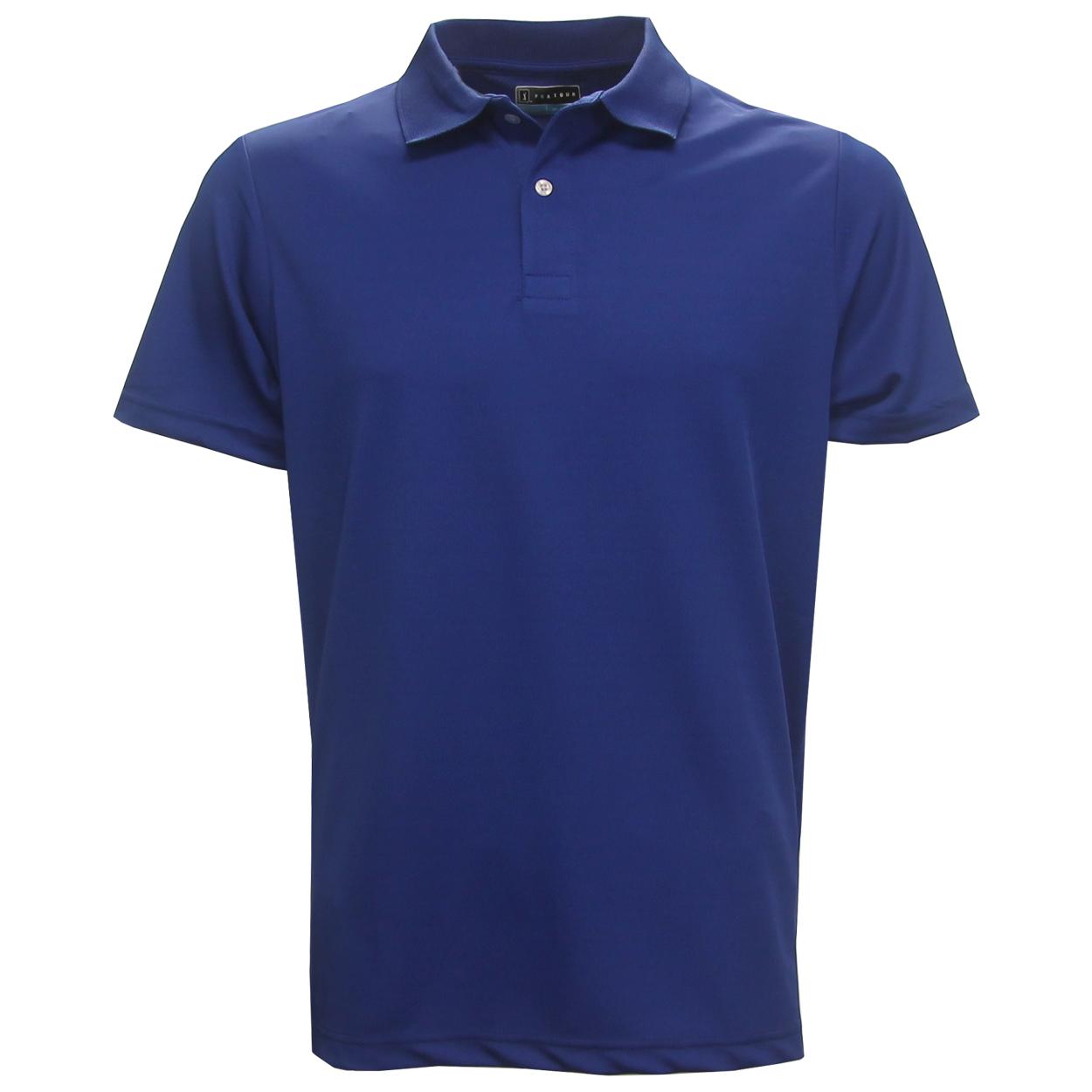 pga tour men u0026 39 s performance solid polo golf shirt  brand