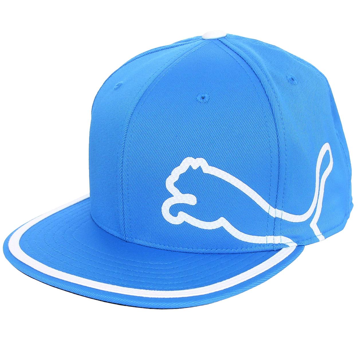 b611e138284 ... best price puma pro tour performance monoline 110 golf hat blue white  ebay d556d 305ef