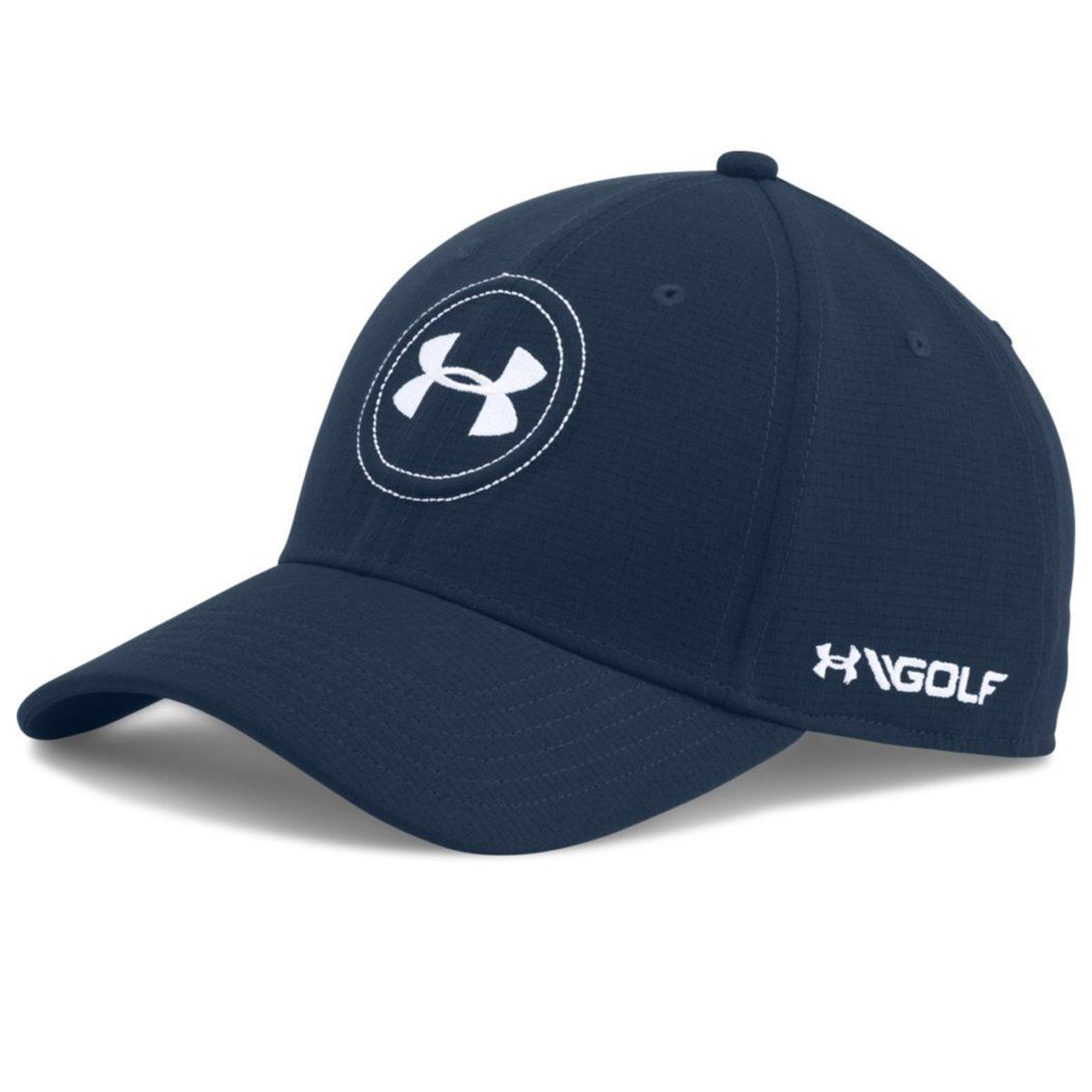 The Under Armour Tour 2.0 Stretch Fit Golf Hat features: ArmourVent fabric is light weight breath-able and wicks moisture away from the skin to keep you dry throughout your round. Stylish Under Armour branding front and back. Made of 100% performance polyester. Stretch fit design for a clean look. Under Armour Classic Fit Hats are a great way to protect your head and face from the sun's harmful rays.