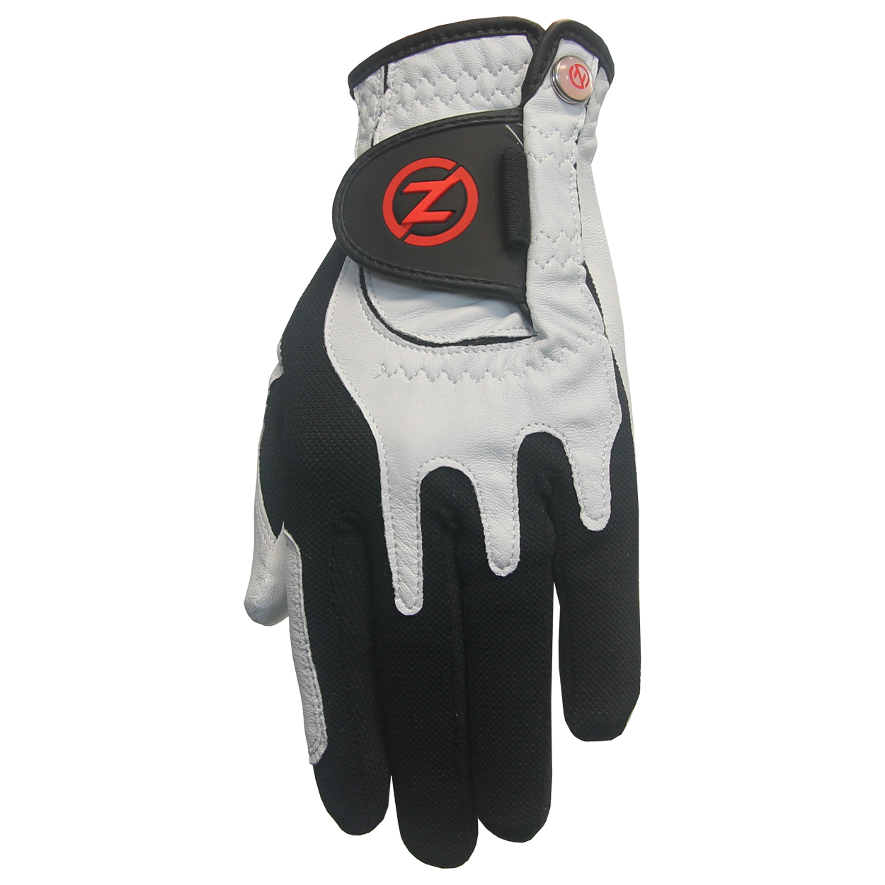 These Zero Friction Premium Golf Gloves feature: Compression Fit Technology allows for universal fit design so one-size-fits most in just one glove. Extremely durable cabretta leather palm for unmatched grip. Mesh Lycra back stretches for a snug fit on almost every player. Rubberized pull tab Velcro closure with ball marker.(Includes 2 gloves) Fitting Note: The hand indicated is the hand the glove is worn on. Typically a right-handed golfer wears a left-handed glove, and a left-handed golfer wears a right-handed glove.