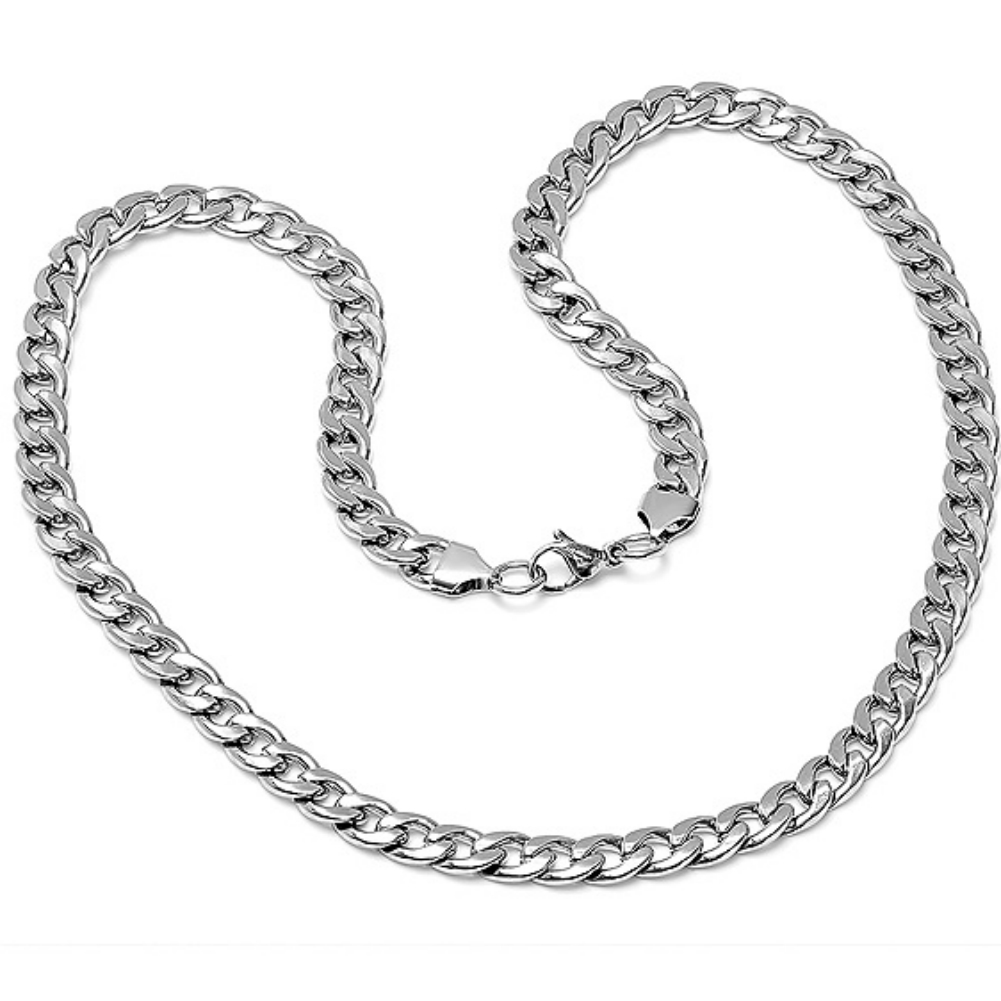 Mens 24 Inch Stainless Steel Link Chain Necklace Ebay