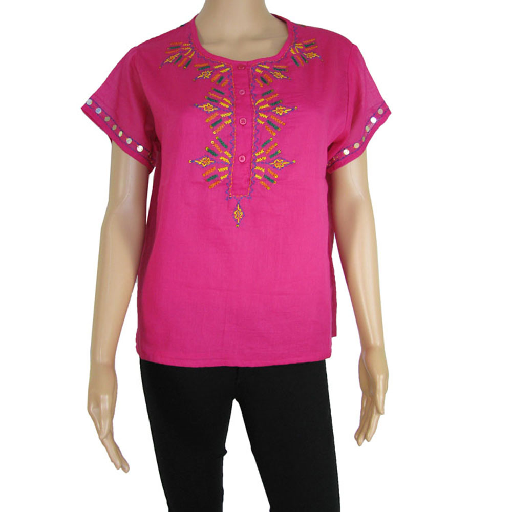 antik batik womens 39 assini 39 henley tee shirt ebay. Black Bedroom Furniture Sets. Home Design Ideas