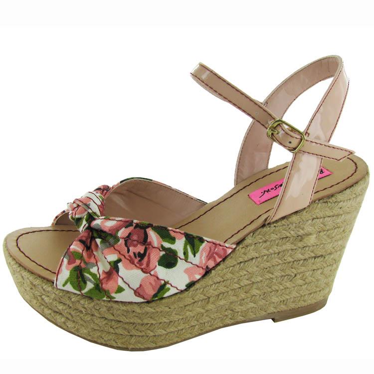 Betsey Johnson women 'Pattty' Espadrille con Zeppa shoes, pink e Vari colori,