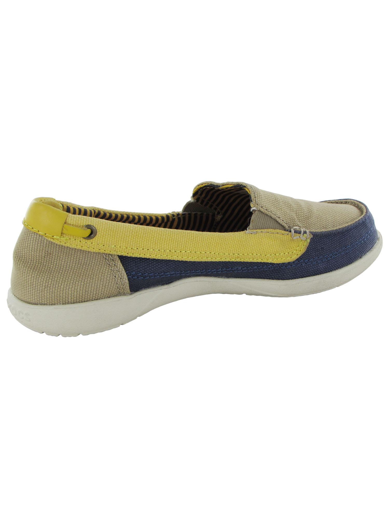 Crocs-Womens-Walu-Canvas-Loafer-Slip-On-Shoe thumbnail 10