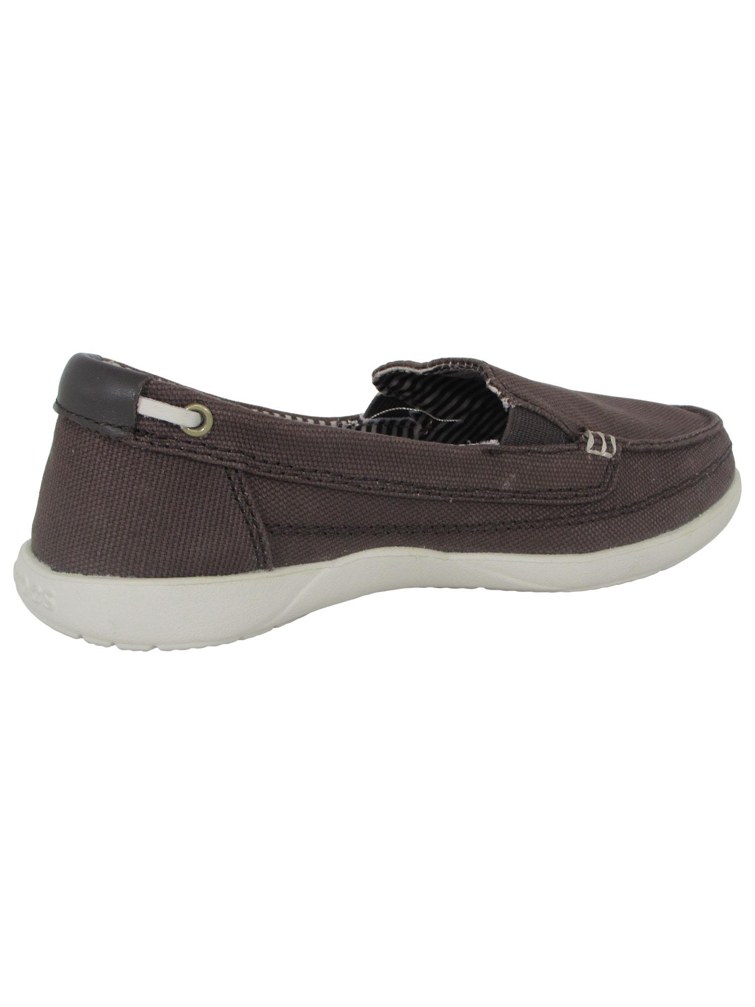 Crocs-Womens-Walu-Canvas-Loafer-Slip-On-Shoe thumbnail 7