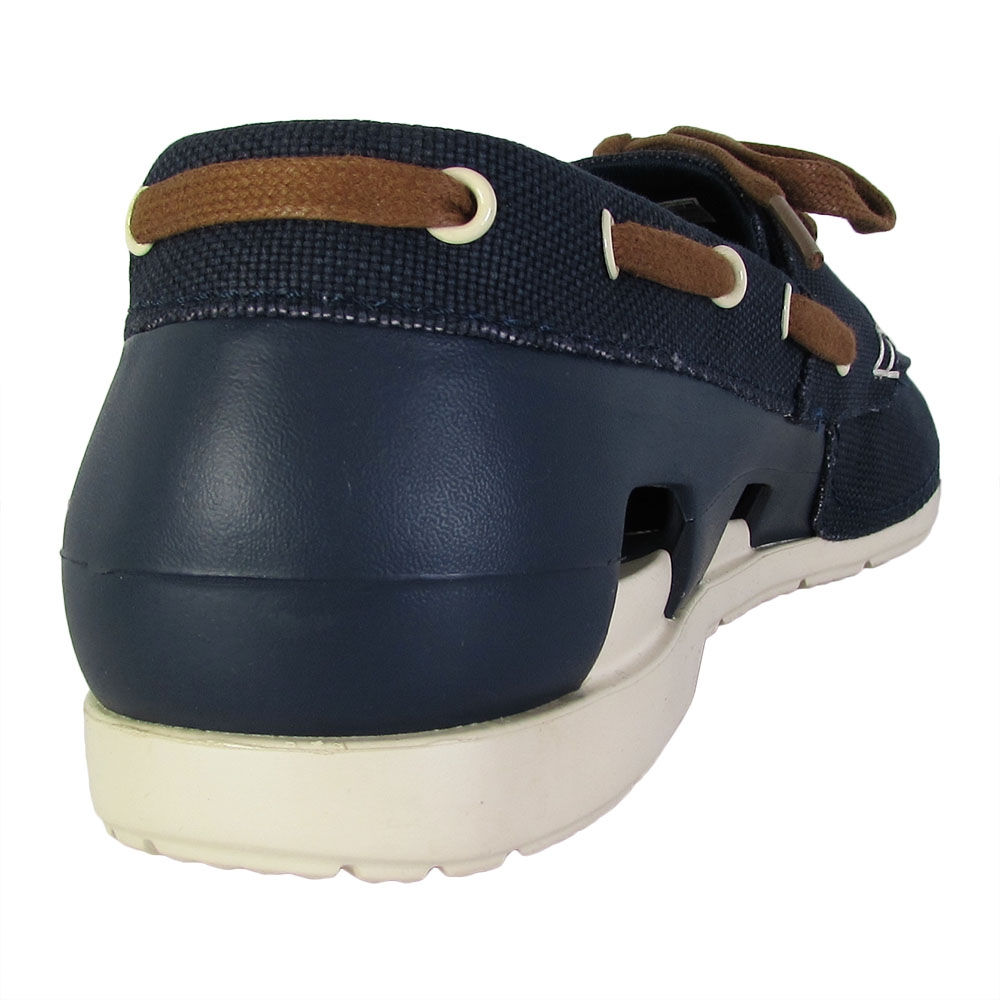 3e6cd821379 Crocs-Mens-Beach-Line-Lace-Up-Boat-Shoes thumbnail