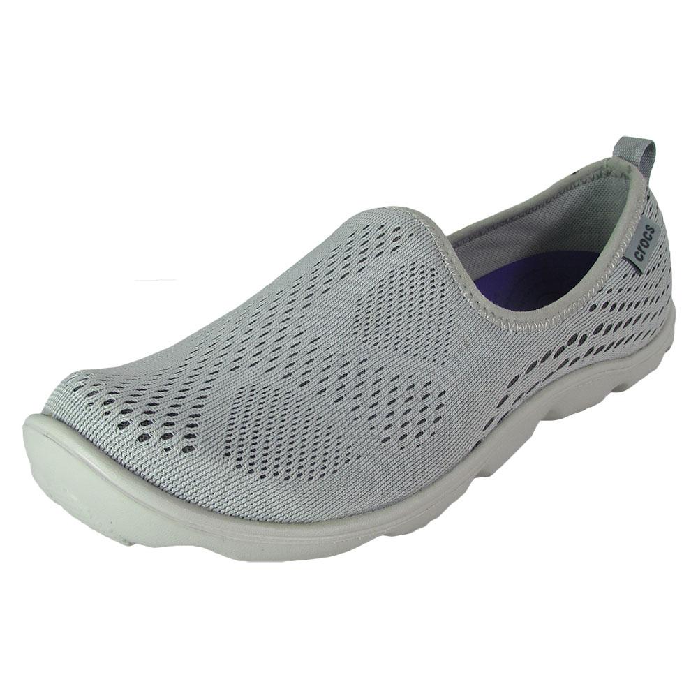 Crocs Women Duet Busy Day Xpress Mesh Skimmer Shoes