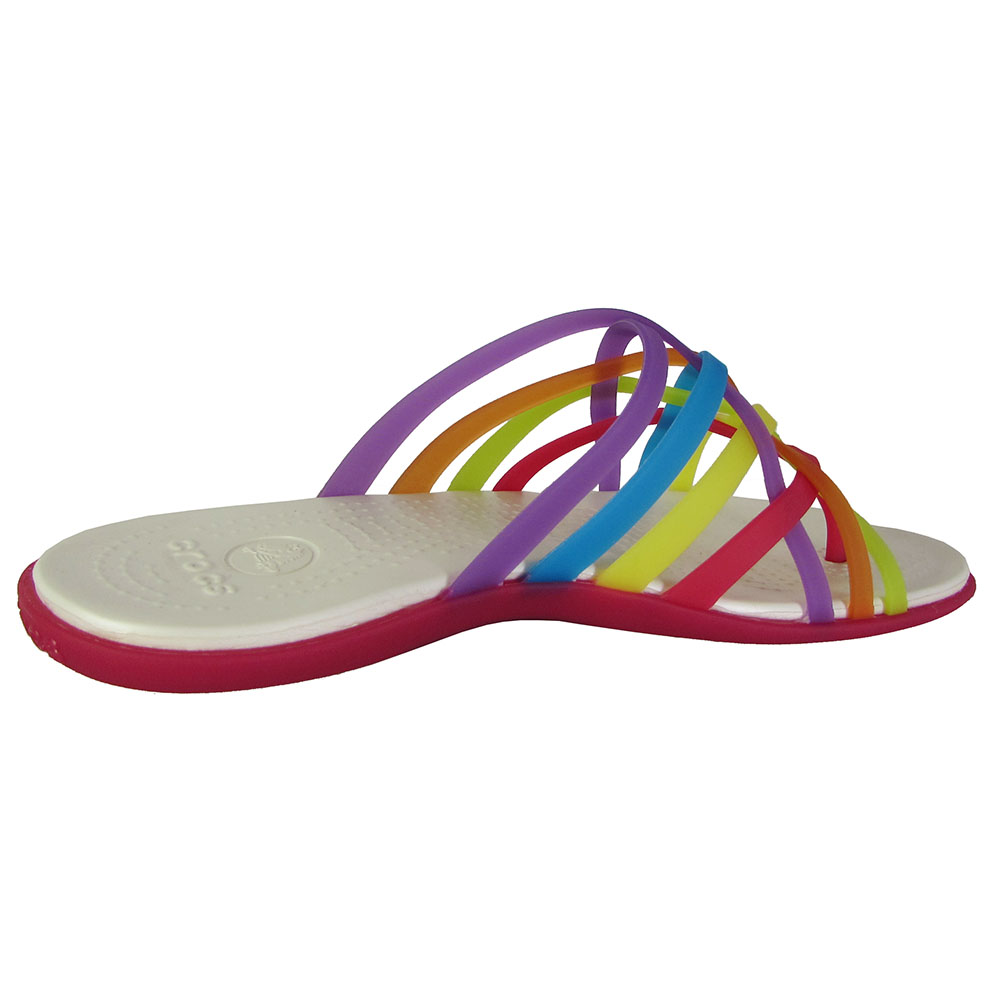12660ea559b5 Crocs Womens Huarache Flip Flop Sandal Shoes Multi geranium US 6 for ...