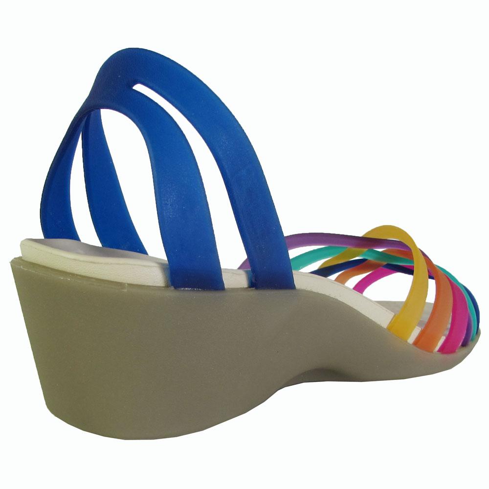 Crocs-Womens-Huarache-Mini-Wedge-Sandal-Shoes thumbnail 7