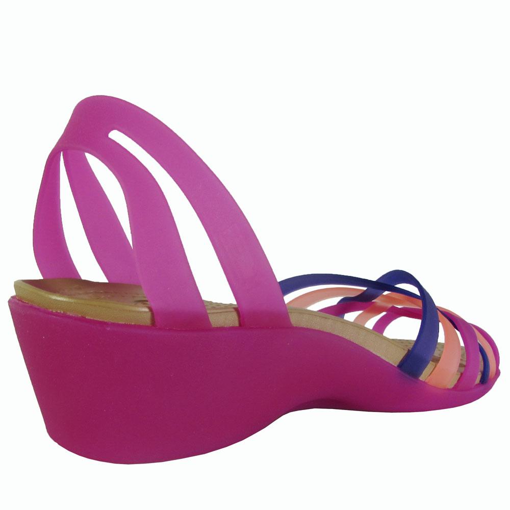 Crocs-Womens-Huarache-Mini-Wedge-Sandal-Shoes thumbnail 16