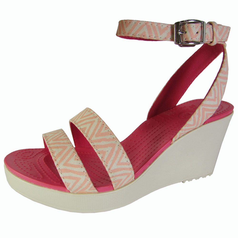 Womens crocs Women's Leigh Graphic Wedge All The Best Size 37