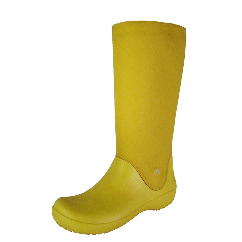 4fa2b728f7a35 Crocs Womens Rain Floe Waterproof Boot Shoes Canary canary US 7