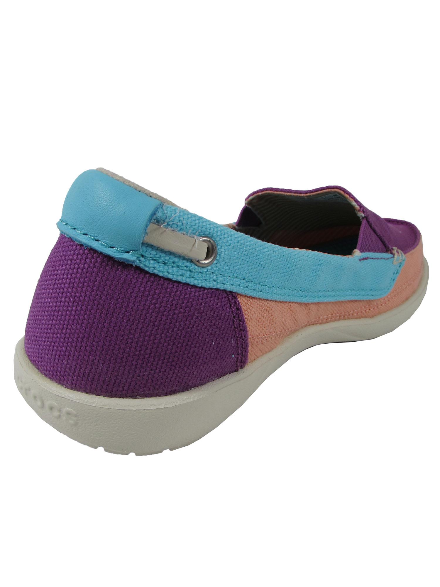 Crocs-Womens-Walu-Canvas-Loafer-Slip-On-Shoe thumbnail 19