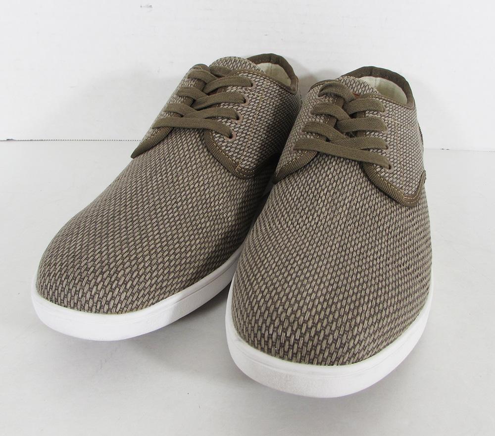 $ 60 Steve Madden Uomo Fuegoe Tessuto Lacci Scarpe Sneaker, Talpa Tessuto, Us 11 Una Custodia Di Plastica è Compartimentata Per Lo Stoccaggio Sicuro